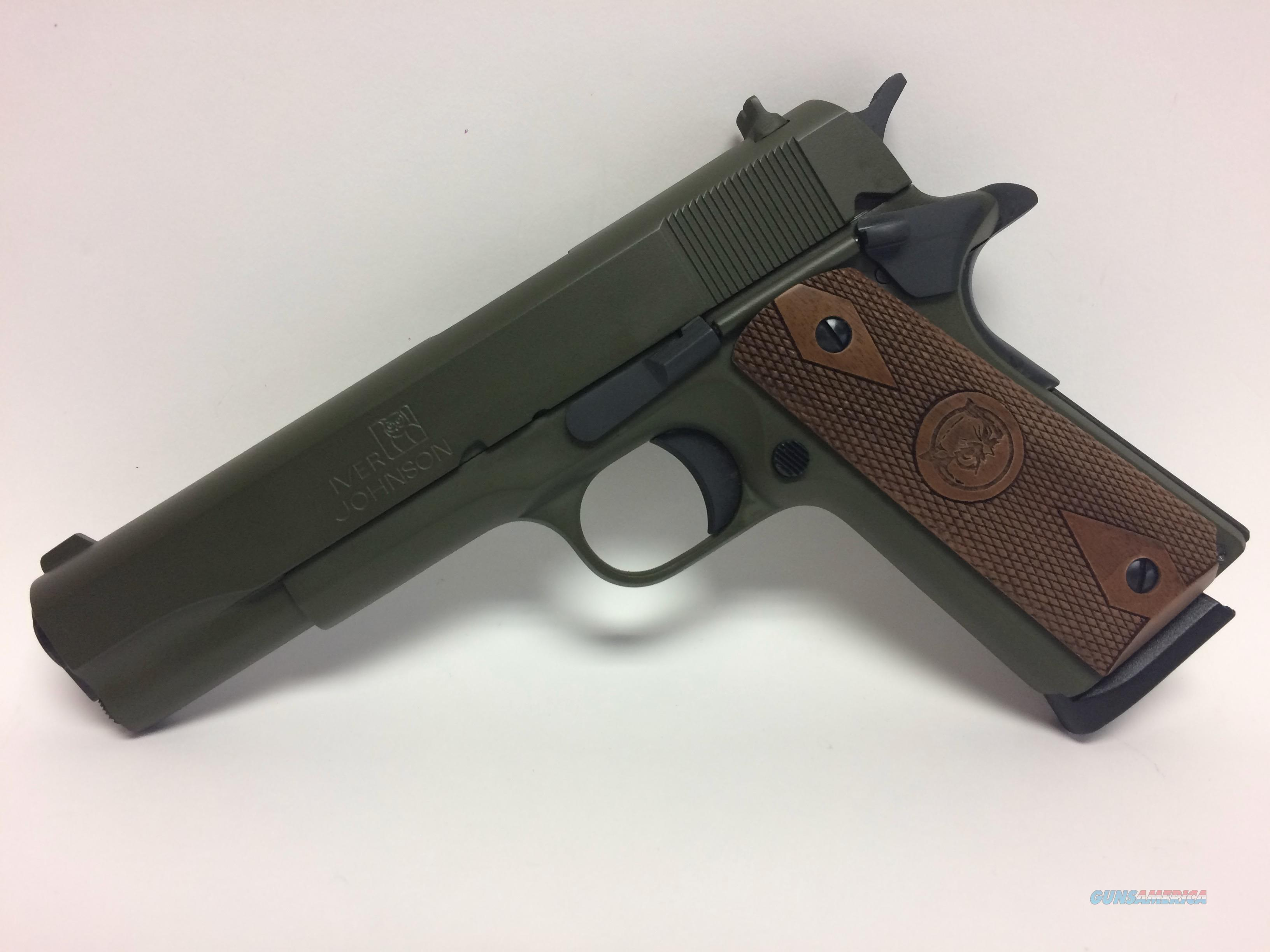 Iver Johnson 1911 A1 O.D. Green 45 ACP   Guns > Pistols > Iver Johnson Pistols