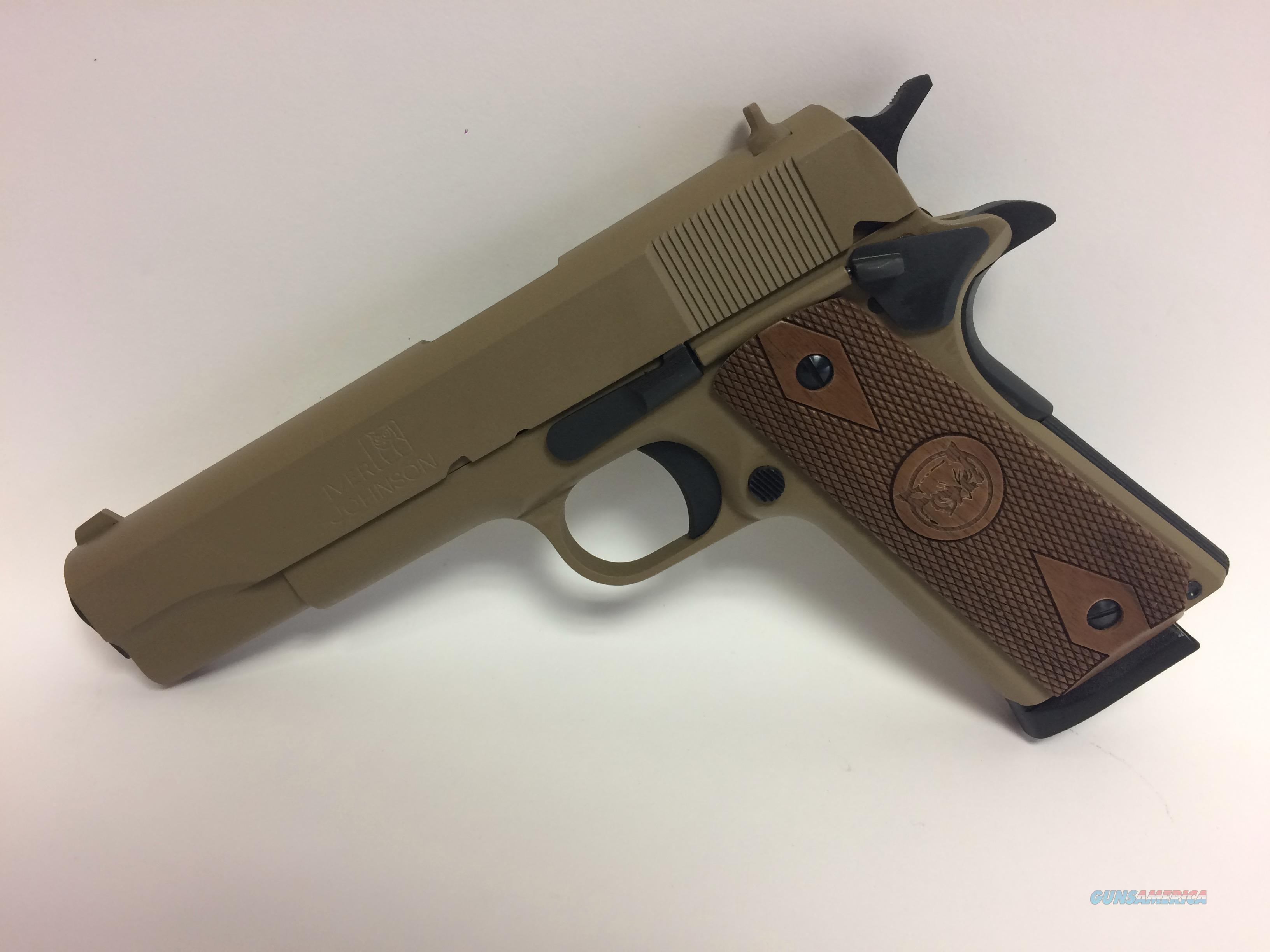 Iver Johnson 1911 A1 Coyote Tan 45 ACP  Guns > Pistols > Iver Johnson Pistols
