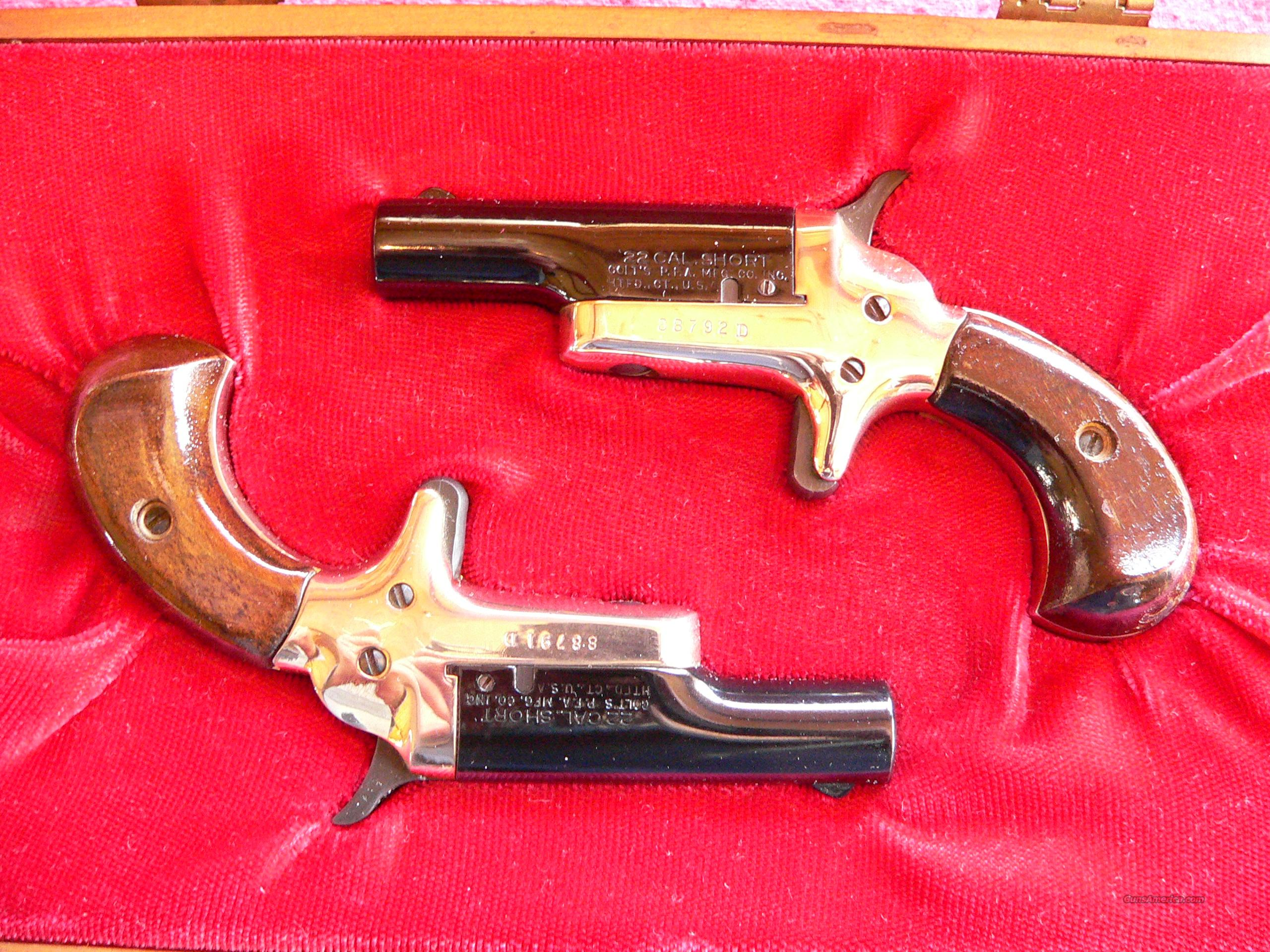 Colt Derringer Matched Set cal. 22 Short (2-1/2-in. barrel) Pistols  Guns > Pistols > Colt Commemorative Pistols