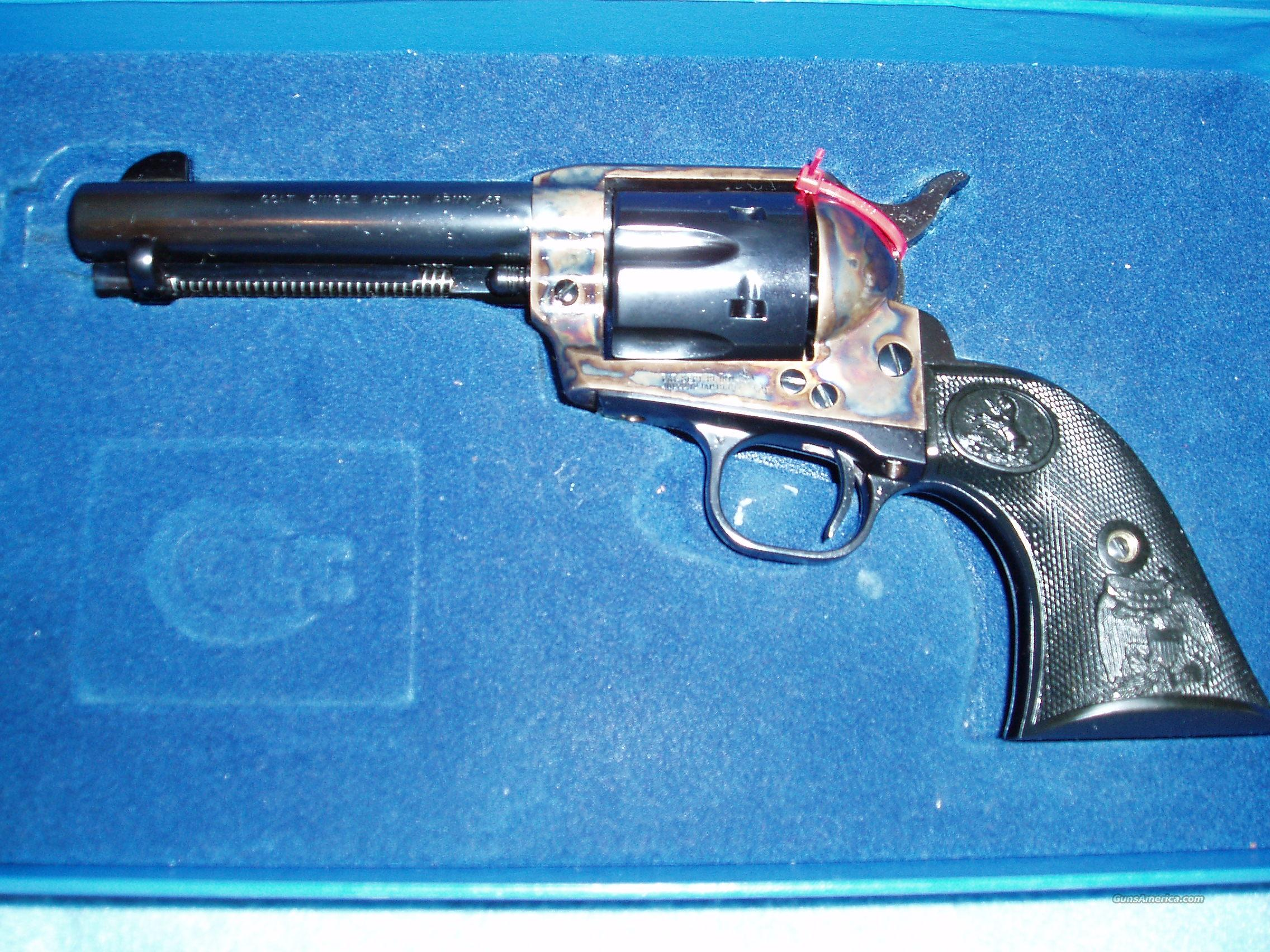 NIB Colt SAA Blue Revolver  Guns > Pistols > Colt Single Action Revolvers - 3rd Gen.