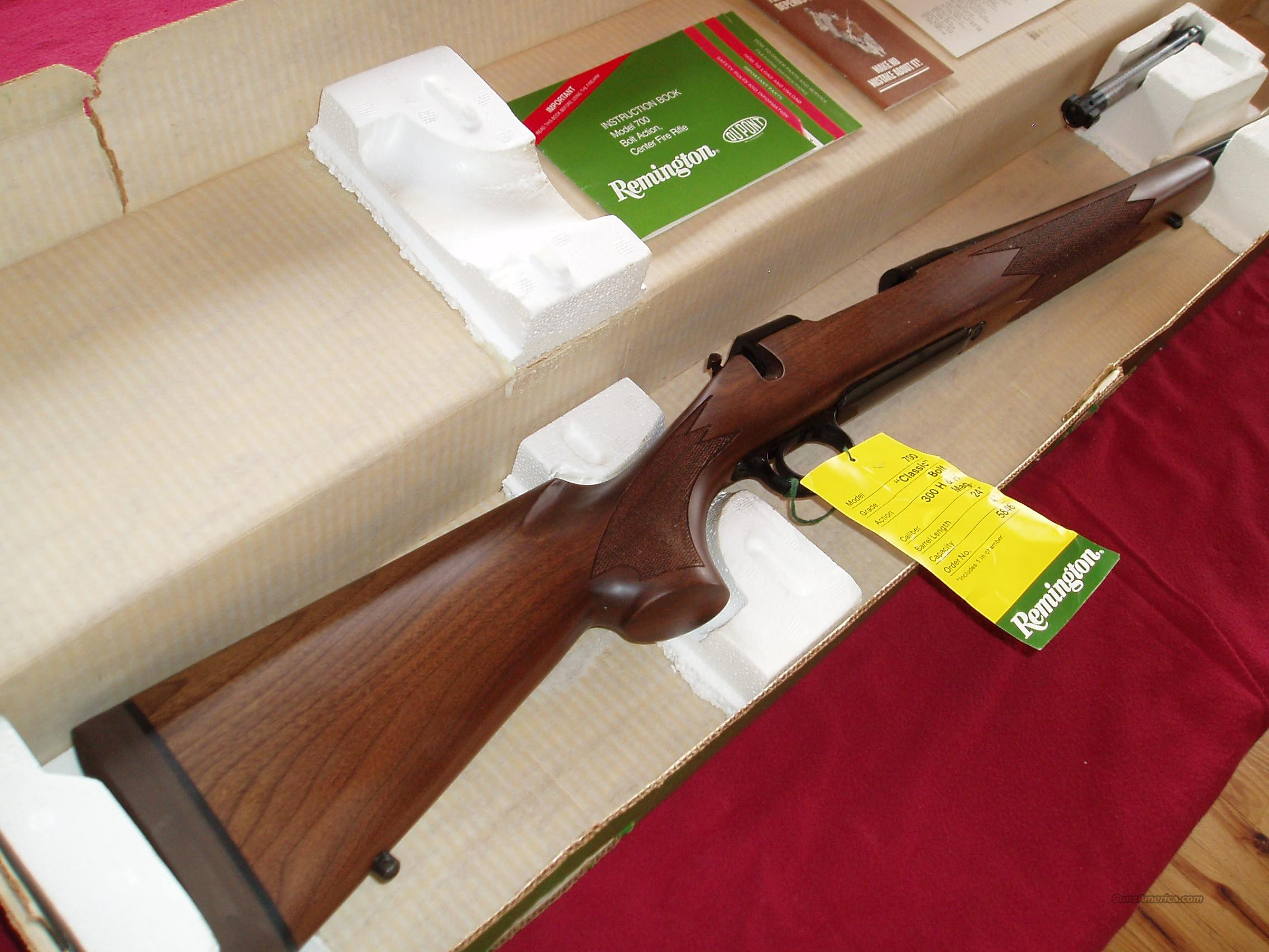 Remington Model 700 Classic cal. 300 H&H Magnum Bolt-Action Rifle  Guns > Rifles > Winchester Rifles - Modern Bolt/Auto/Single > Autoloaders