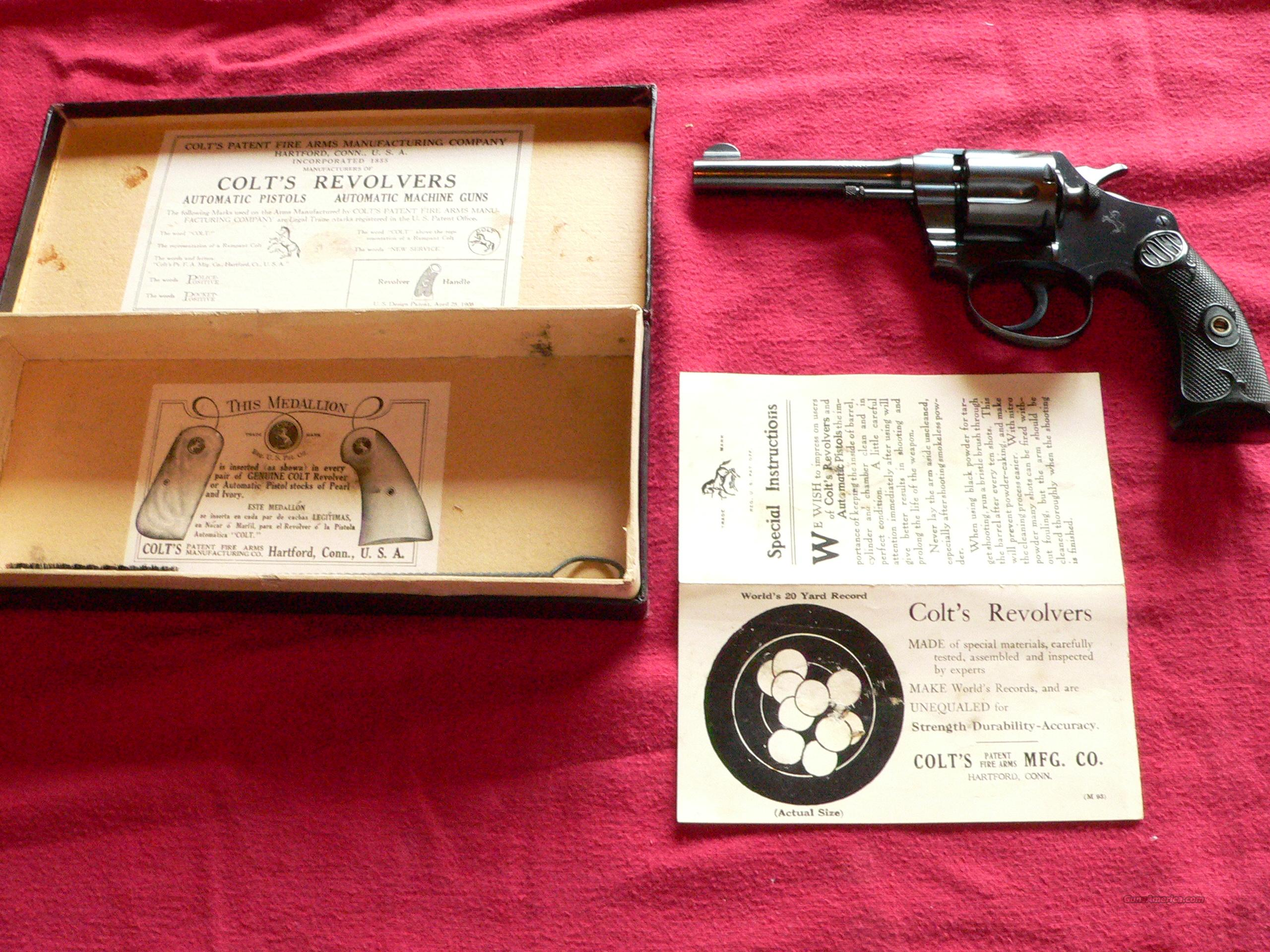 New in Box (NIB) Colt Police Positive Double-Action cal. 38 S&W Revolver manufactured in 1925  Guns > Pistols > Colt Double Action Revolvers- Modern