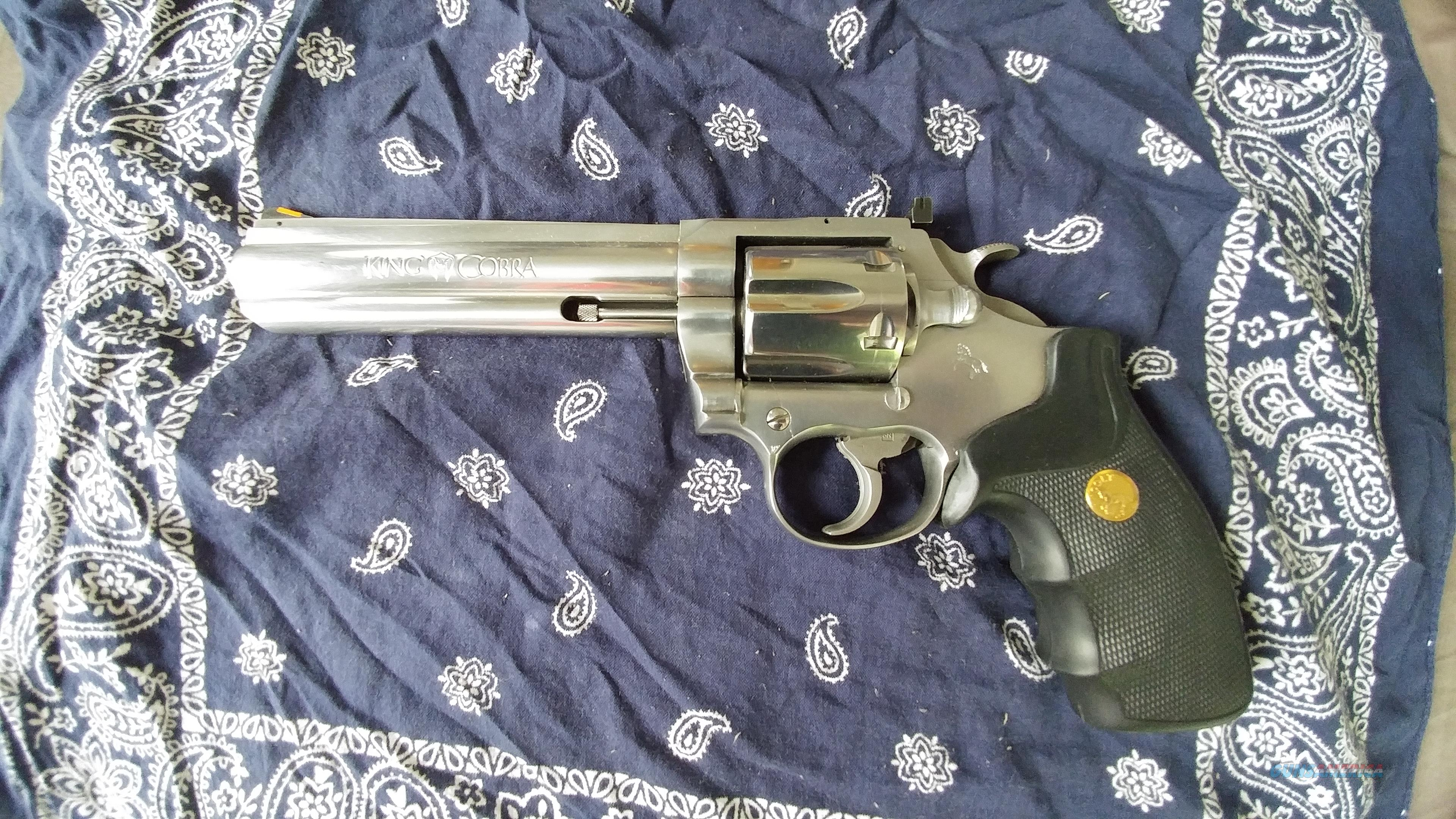 "Colt King Cobra 6"" Stainless  Guns > Pistols > Colt Double Action Revolvers- Modern"