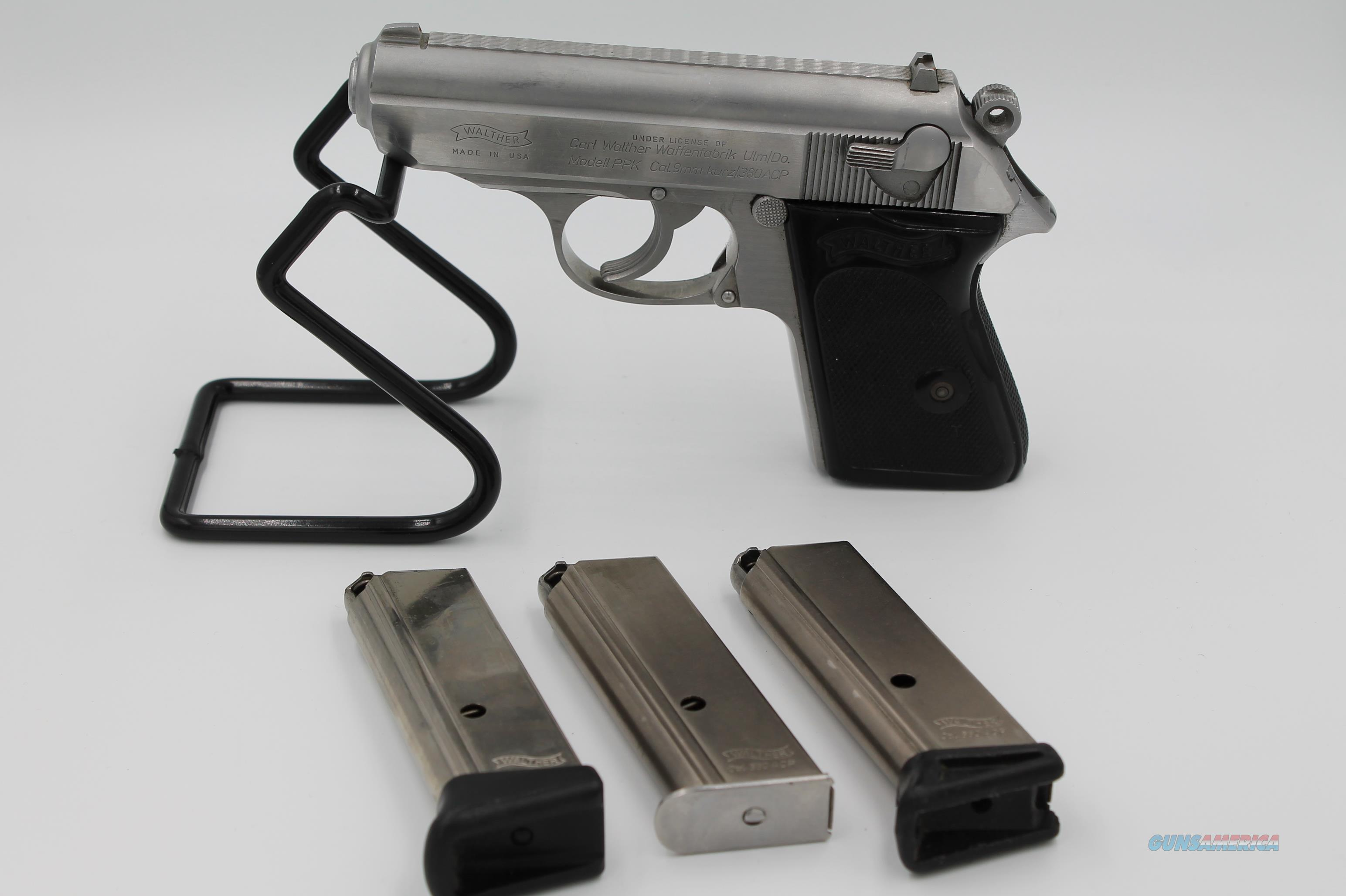 "Walther/Interarms PPK .380 ACP (9mm Kurz) 3.25"" + Three (3) 6rd Magazines  Guns > Pistols > Walther Pistols > Post WWII > PPK Series"