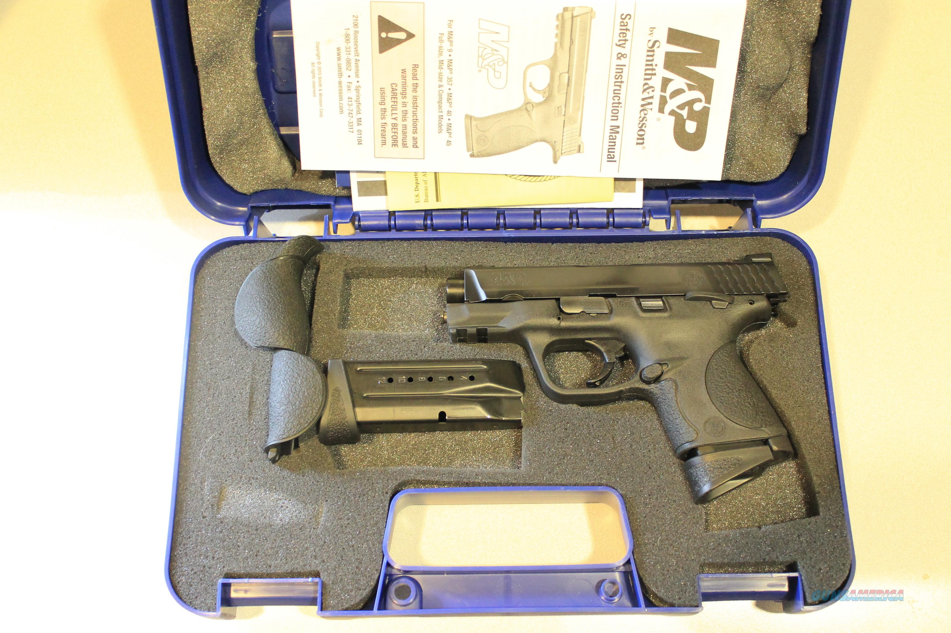Smith & Wesson M&P 9c Thumb Safety 9mm - (2) 12rd Mags + Case Like-New!  Guns > Pistols > Smith & Wesson Pistols - Autos > Polymer Frame