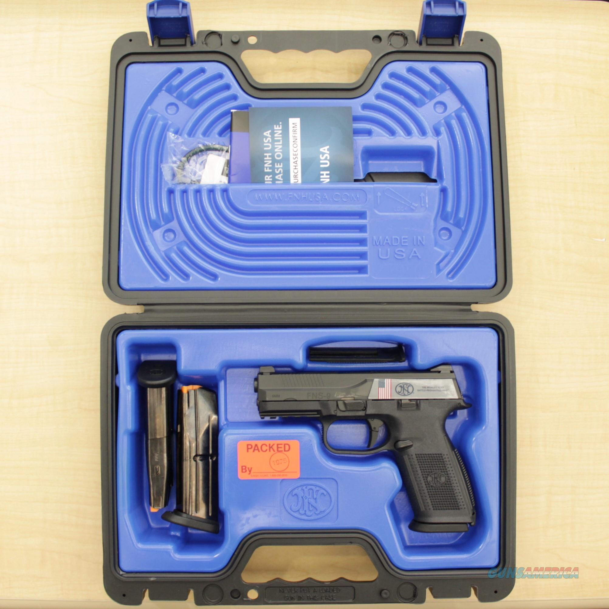 New! - FNH USA FNS-9 9mm No Manual Safety - Includes 3 Mags!  Guns > Pistols > FNH - Fabrique Nationale (FN) Pistols > FNS