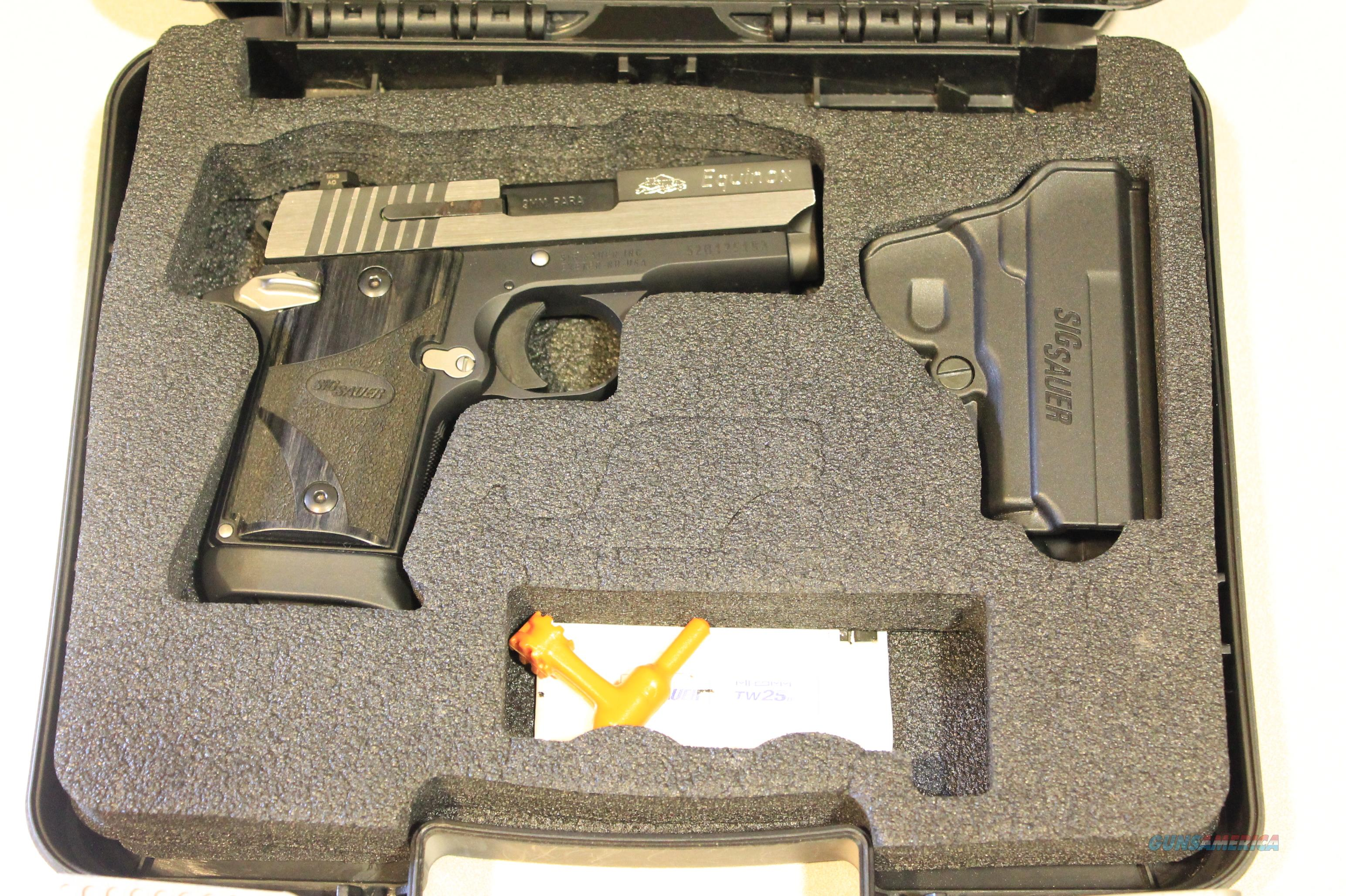 Sig Sauer P938 Equinox 9mm SAO AMBI 6rd + Case - Excellent Condition!  Guns > Pistols > Sig - Sauer/Sigarms Pistols > P938