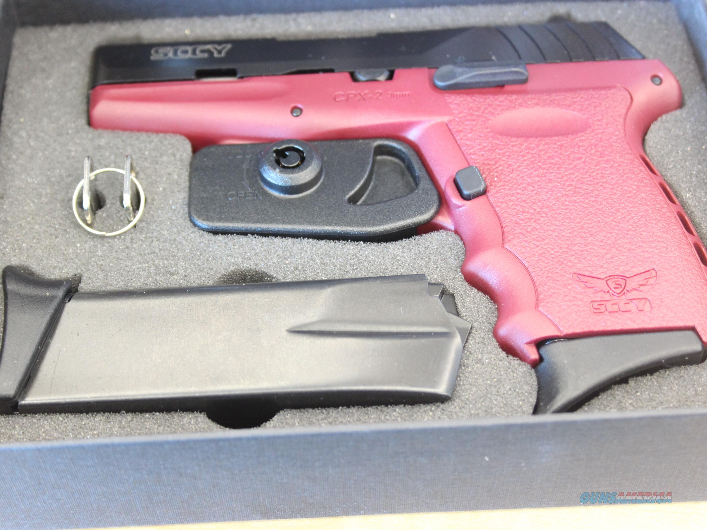 NEW SCCY Industries CPX-2 9mm Crimson Red  Guns > Pistols > SCCY Pistols > CPX2