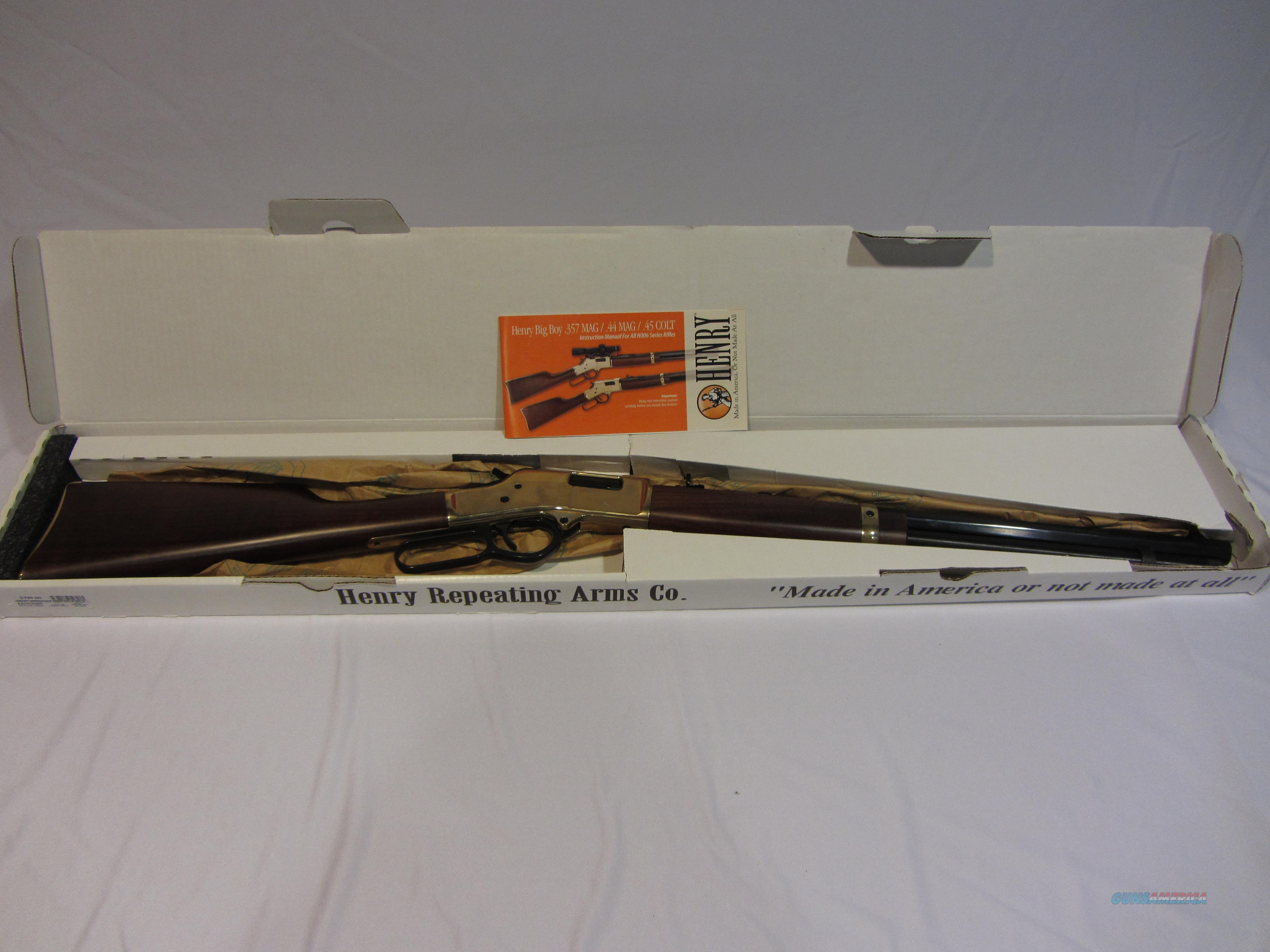 "Henry Big Boy .357 Mag Lever Rifle 20"" Like-New Condition, In-Box  Guns > Rifles > Henry Rifle Company"