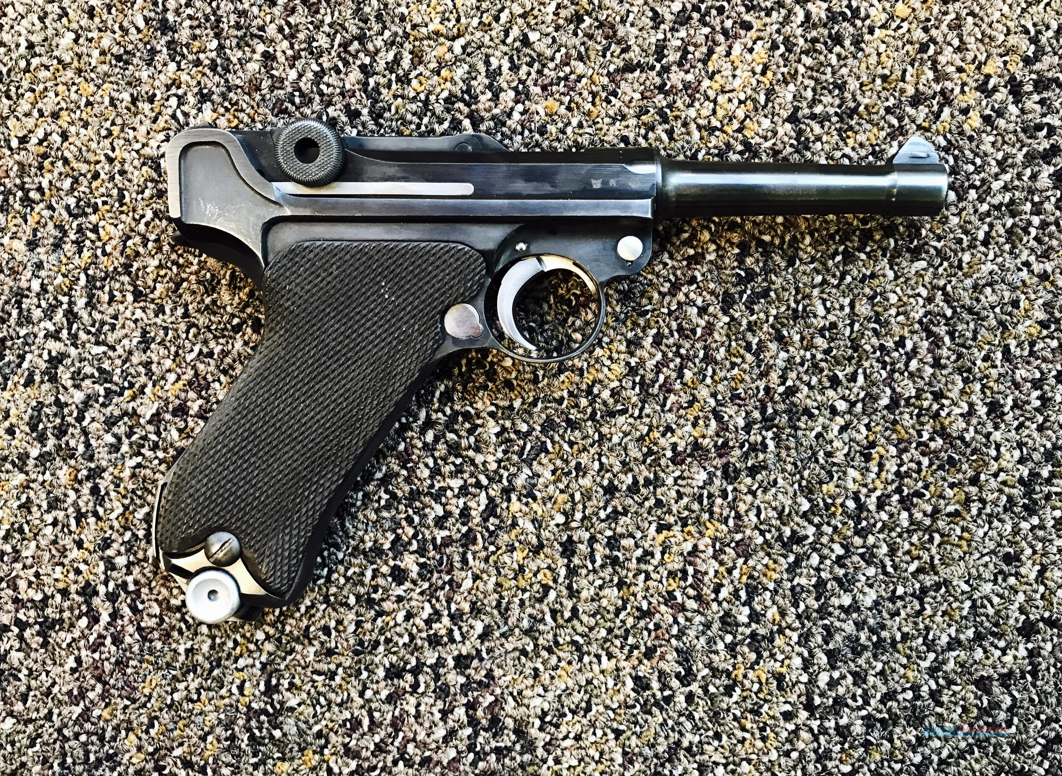 Luger P08 Dated 1938 With WW2 Holster  Guns > Pistols > Mauser Pistols
