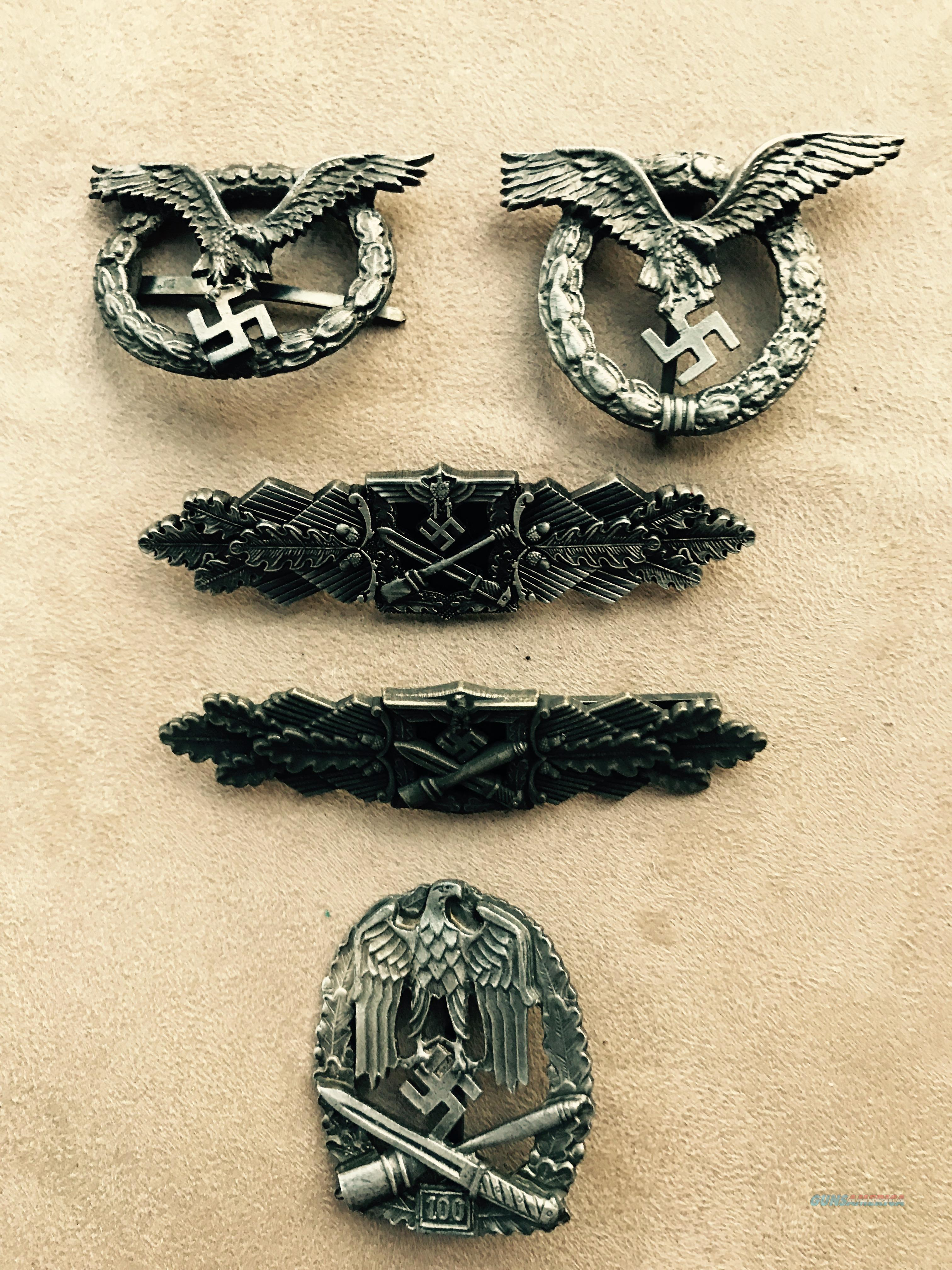 Collection of WW2  German Military Badges  Non-Guns > Military > Badges