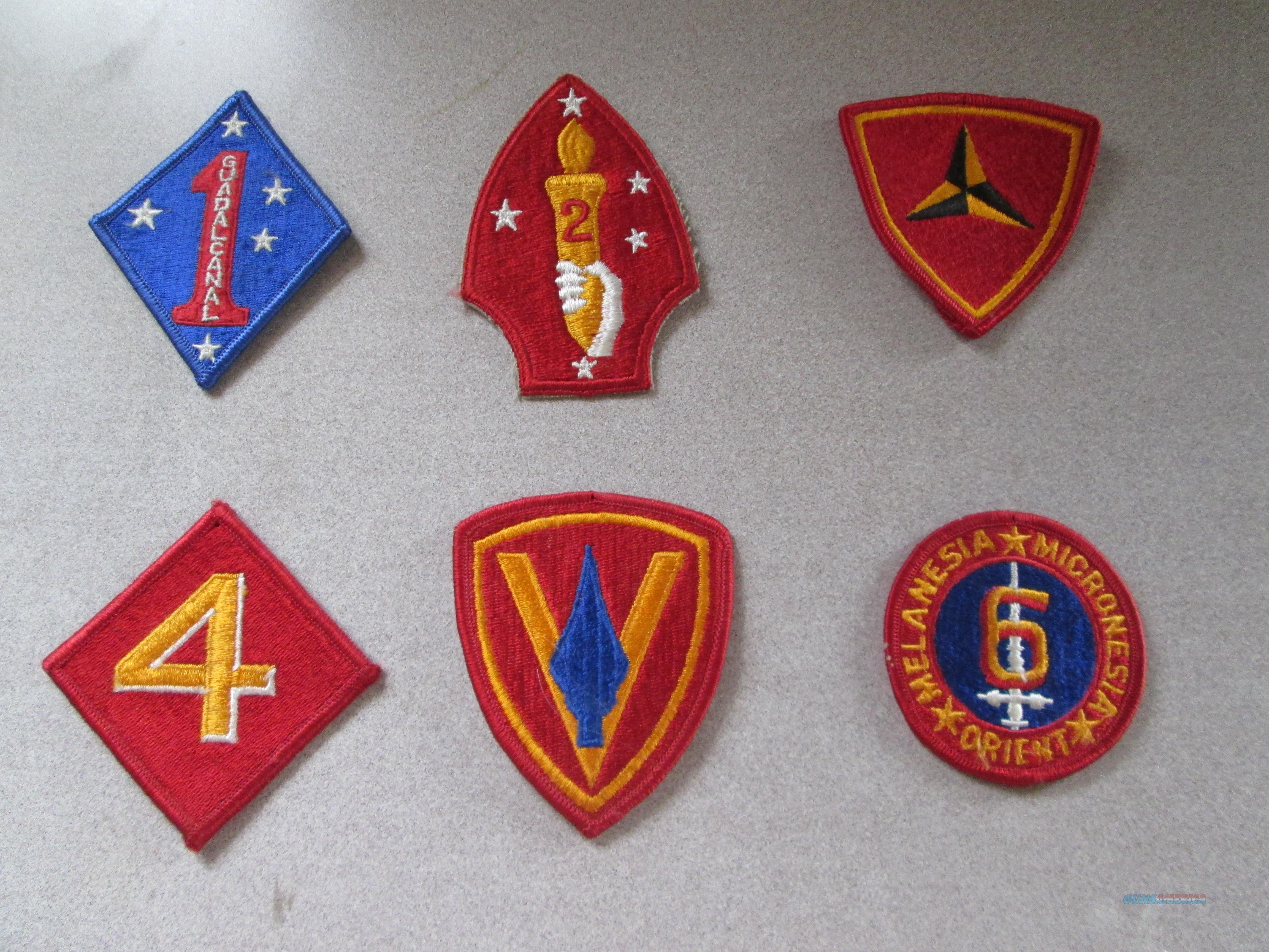 WWII USMC division Patches  Non-Guns > Miscellaneous