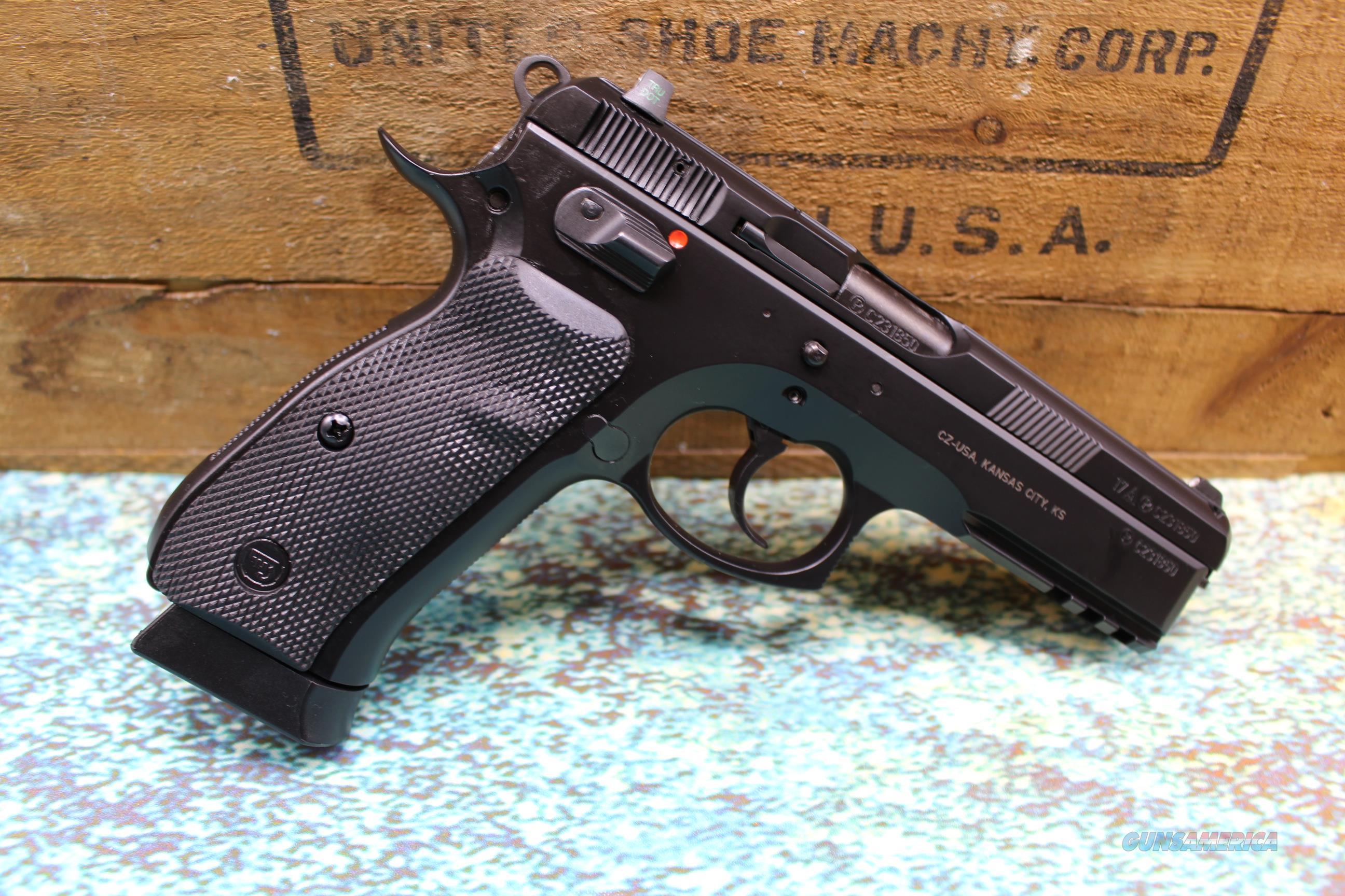 """CZ SP-01 9MM 4.7"""" WITH SAFETY HANDGUN NEW  Guns > Pistols > CZ Pistols"""