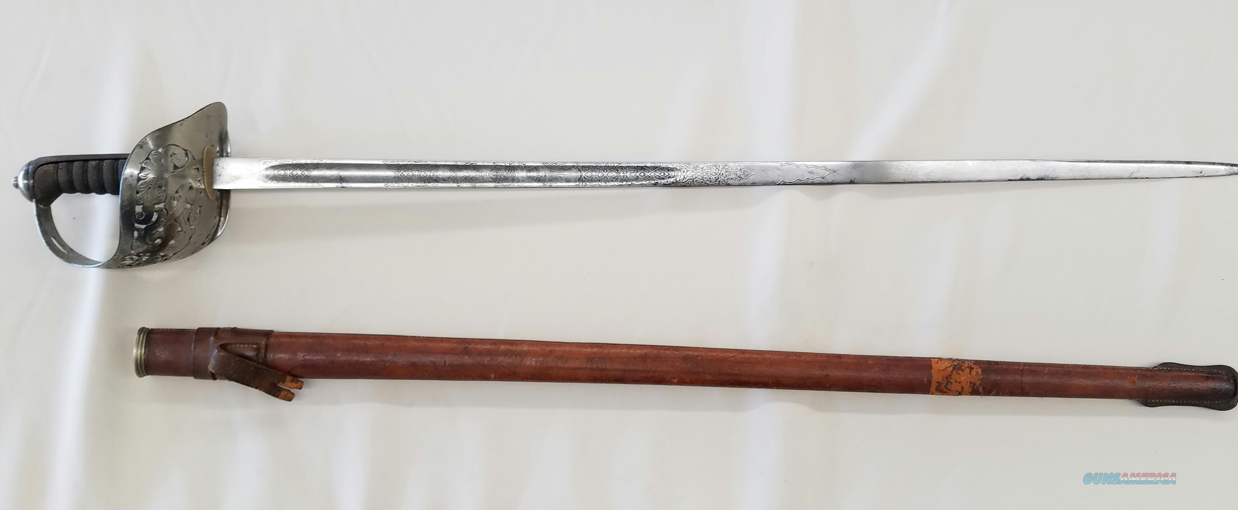 Antique World War I English Infantry Officer's Sword  Non-Guns > Knives/Swords > Military > Non-Bayonets
