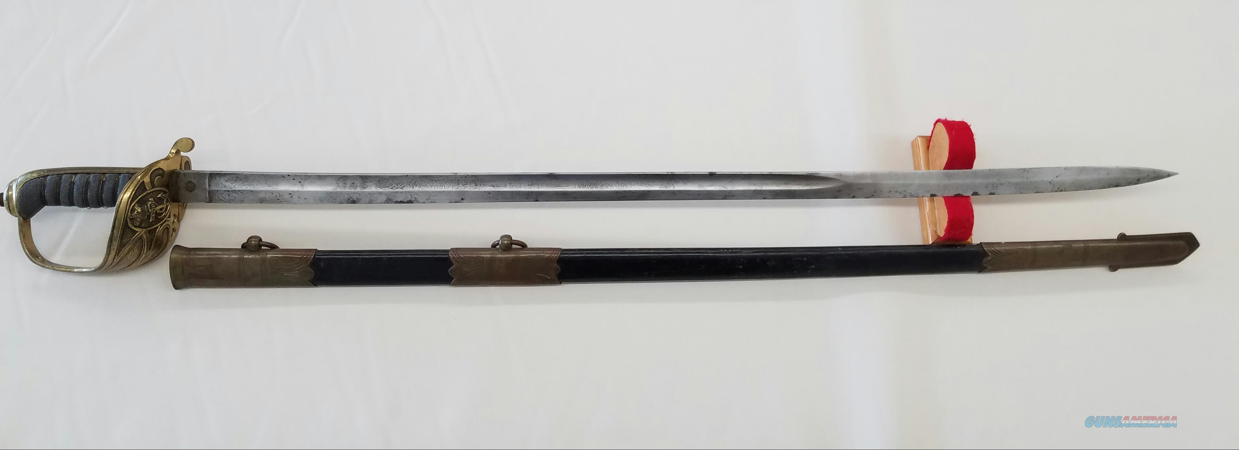 Continental or English Antique Naval Officer's Sword w/ Scabbard  Non-Guns > Knives/Swords > Military > Non-Bayonets