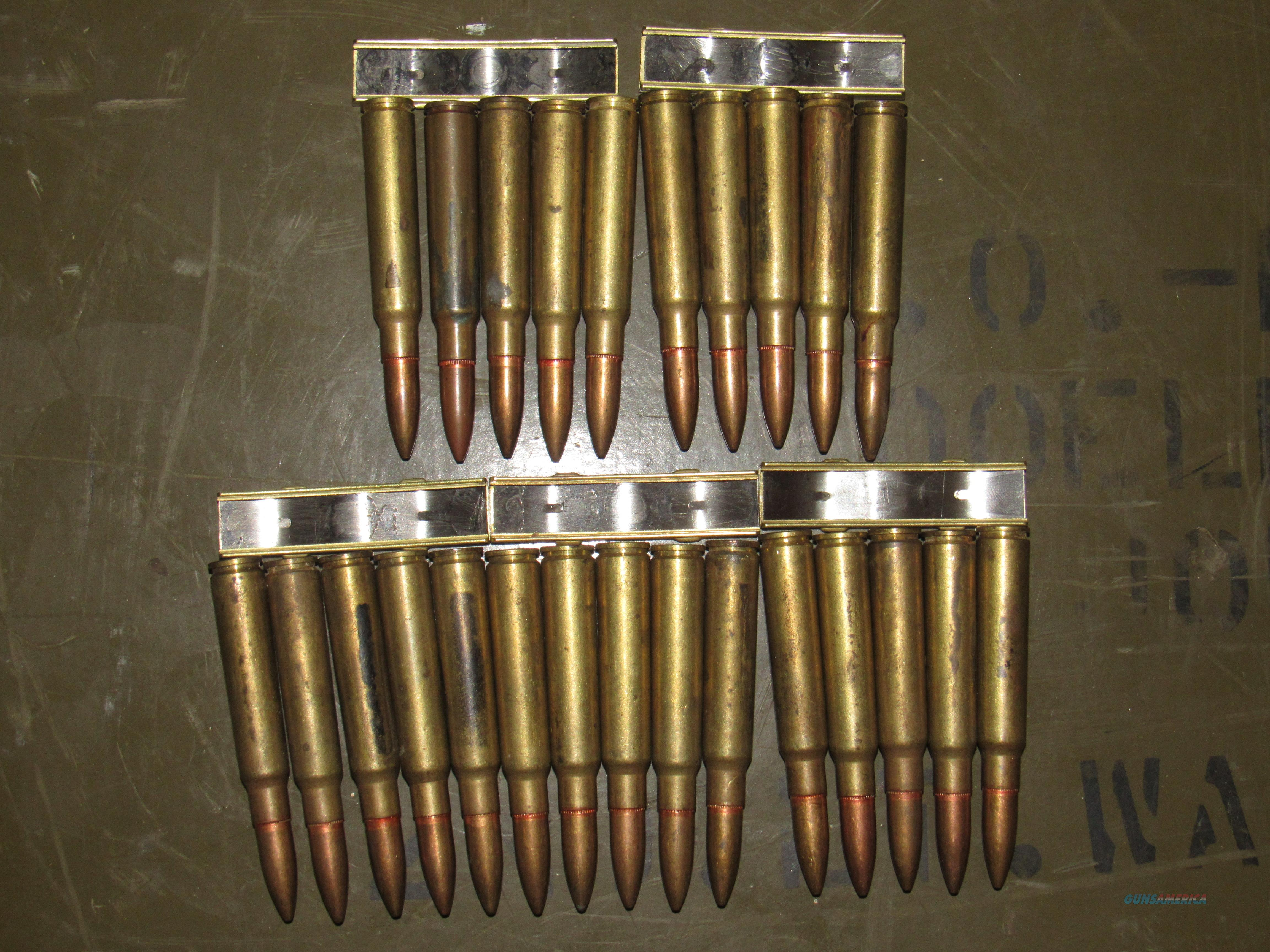 Japanese 5 round Clips 7.7X58 Arisaka rimless Type 99 Rifle ammunition Vintage never fired  Non-Guns > Ammunition