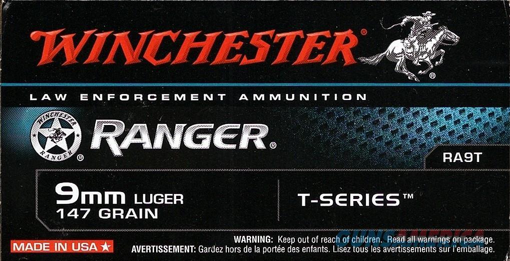 Winchester Ranger 9MM 147gr T-Series RA9T  Non-Guns > Ammunition