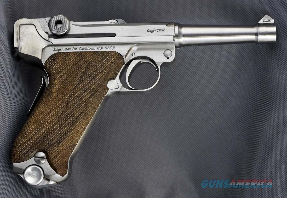 Luger 1907 Stainless Steel in 45 ACP Reproduction of DWM . Functions like 1906 P08 Model but in 45ACP  Guns > Pistols > Luger Pistols
