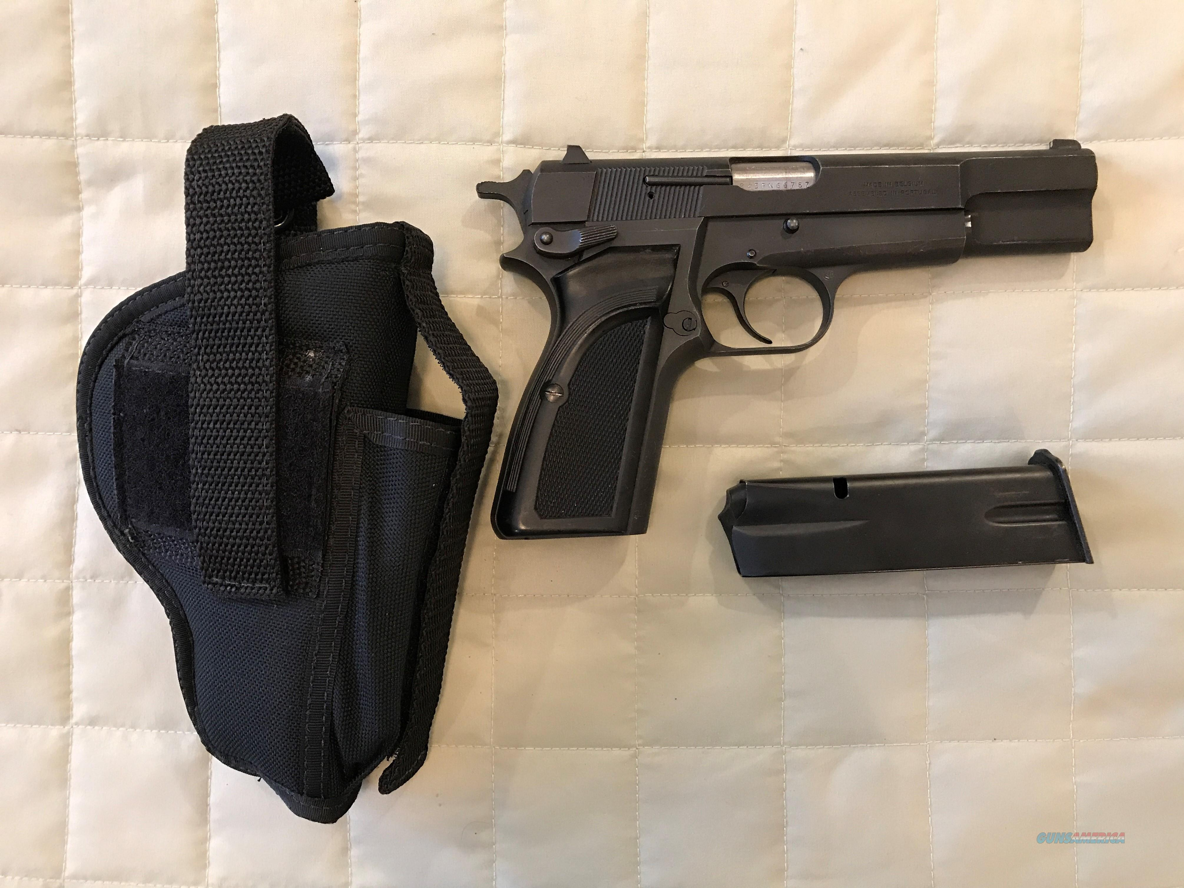 BROWNING HI POWER 9MM MARK III 1989, ADJ LOW PROFILE FRT & REAR SIGHTS, 13 RD MAG, HOLSTER  Guns > Pistols > Browning Pistols > Hi Power