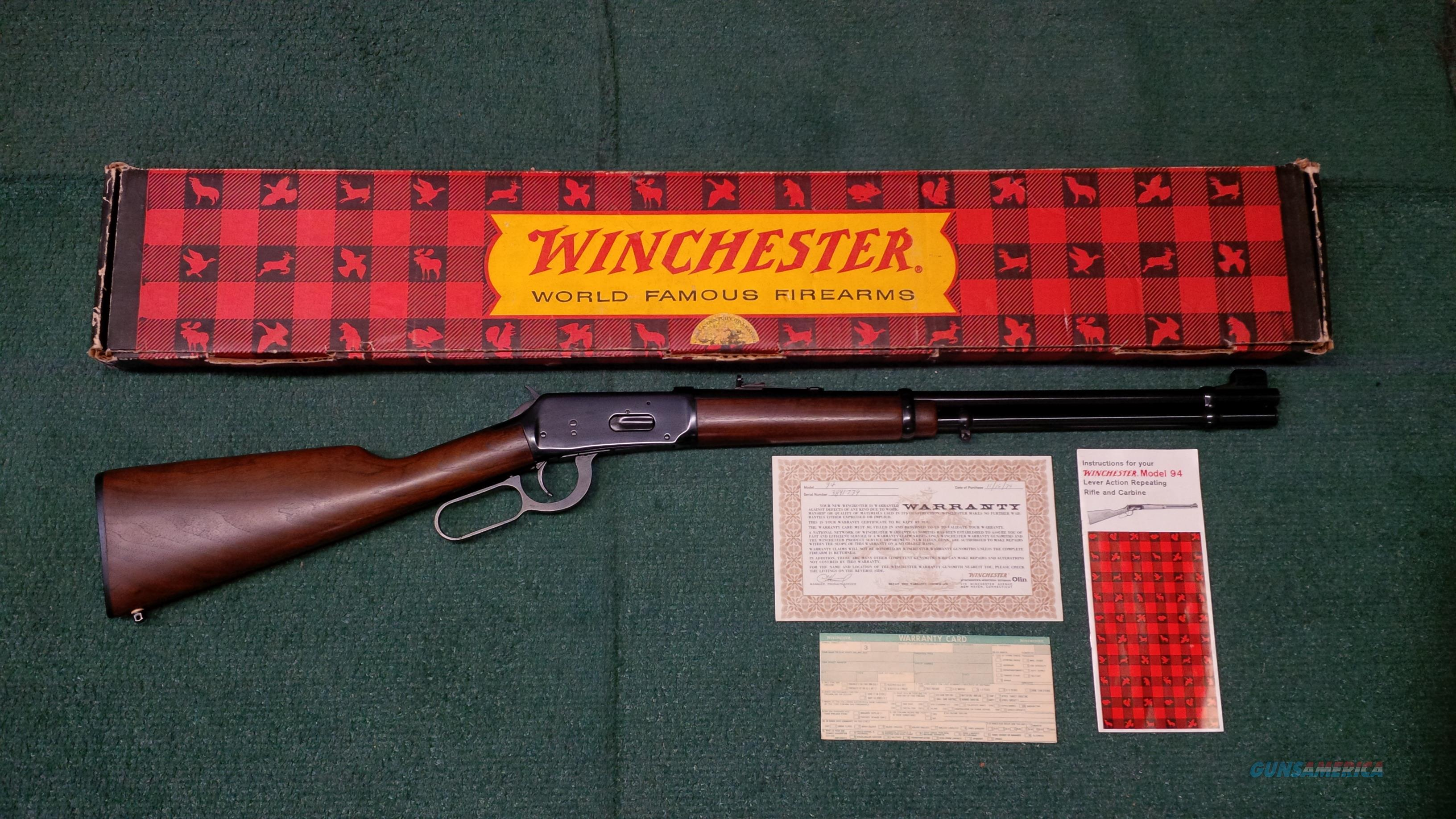 Winchester Model 94 .30-30 Winchester With Factory Original Box and Paperwork  Guns > Rifles > Winchester Rifles - Modern Lever > Model 94 > Post-64