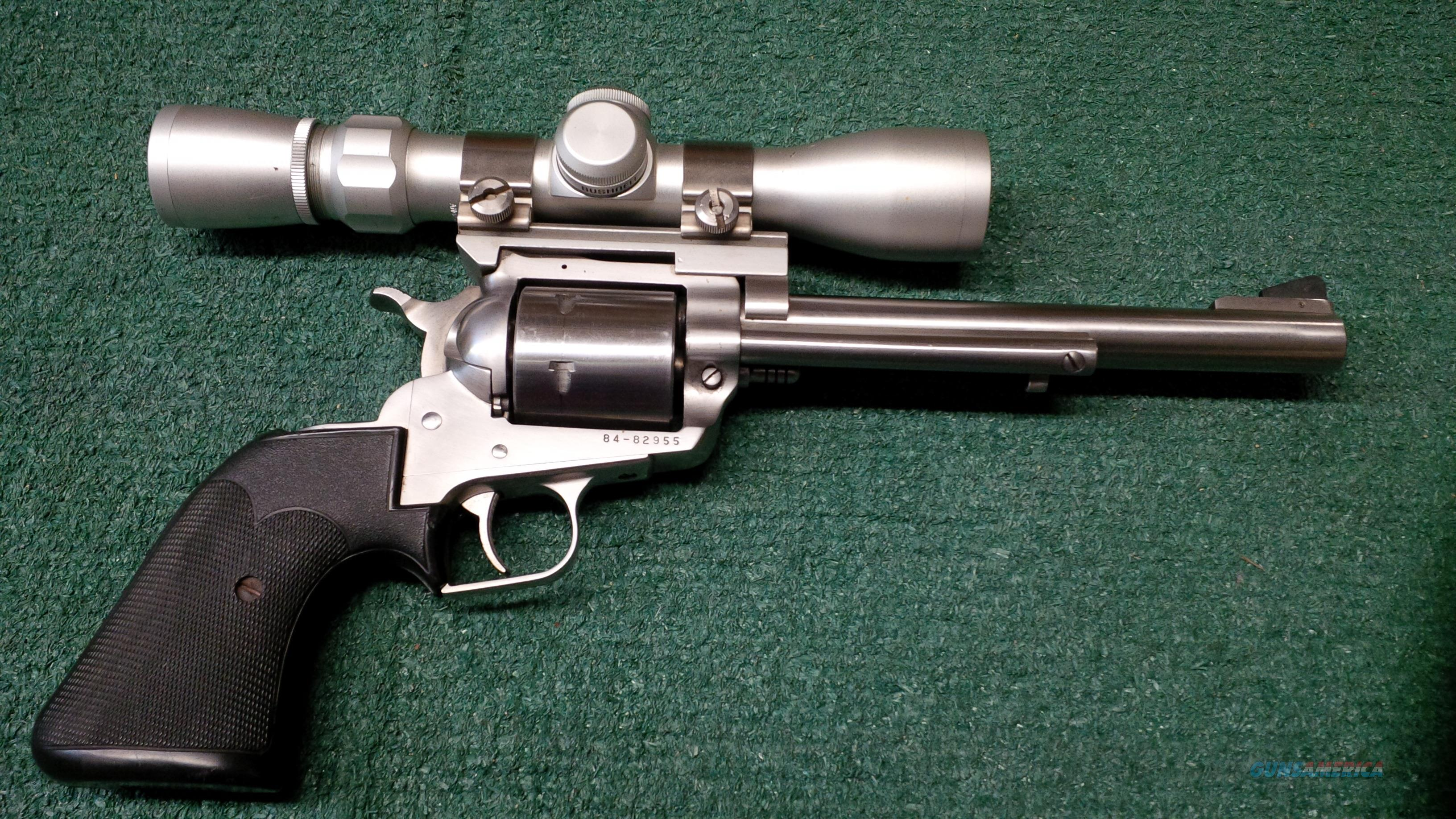 Ruger New Model Super Blackhawk .44 Magnum 7.5 Inch Barrel With Bushnell 2x6   Guns > Pistols > Ruger Single Action Revolvers > Blackhawk Type