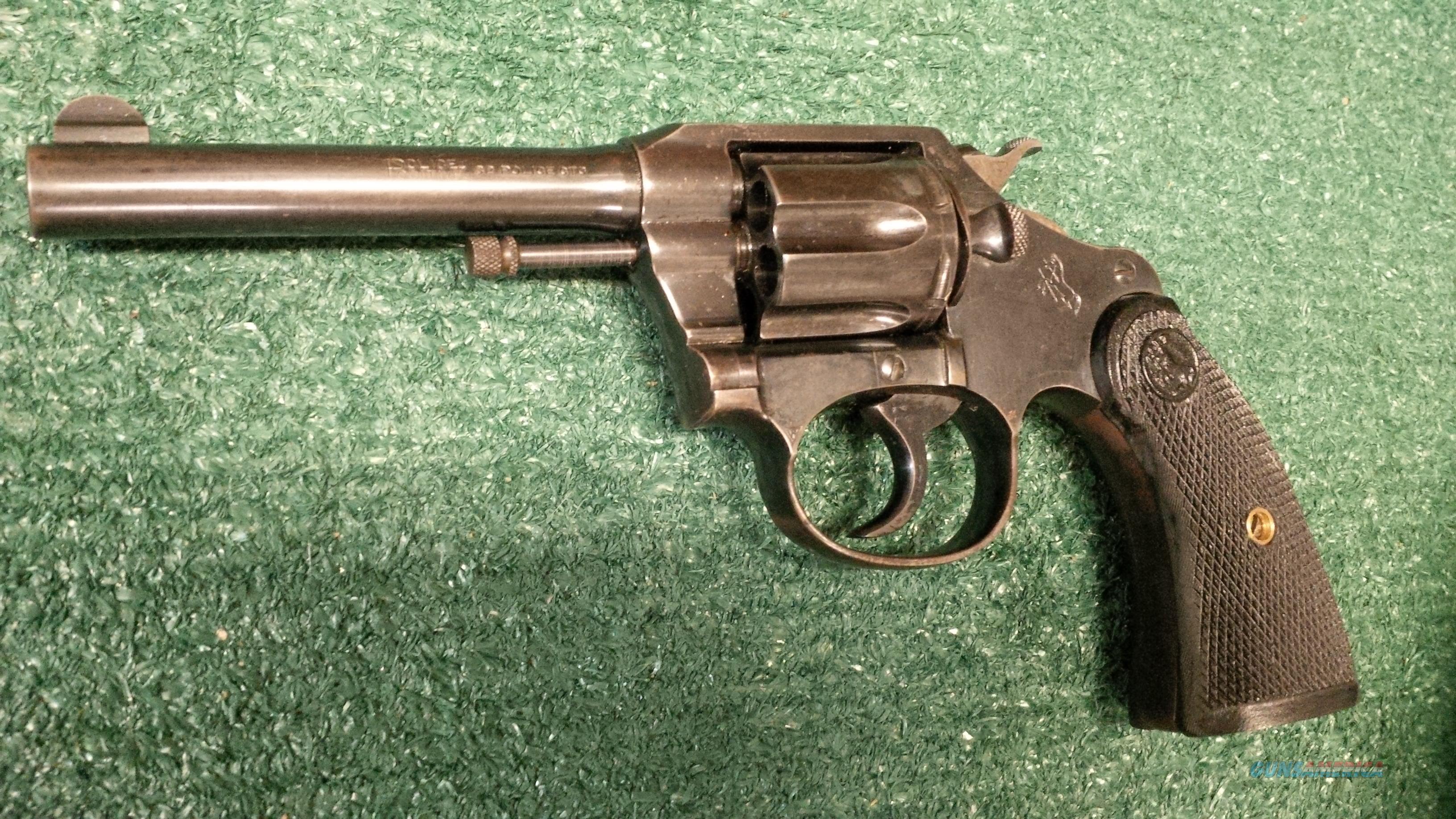 Colt Police Positive .32 Police Ctg 4 Inch Double Action Revolver  Guns > Pistols > Colt Double Action Revolvers- Pre-1945