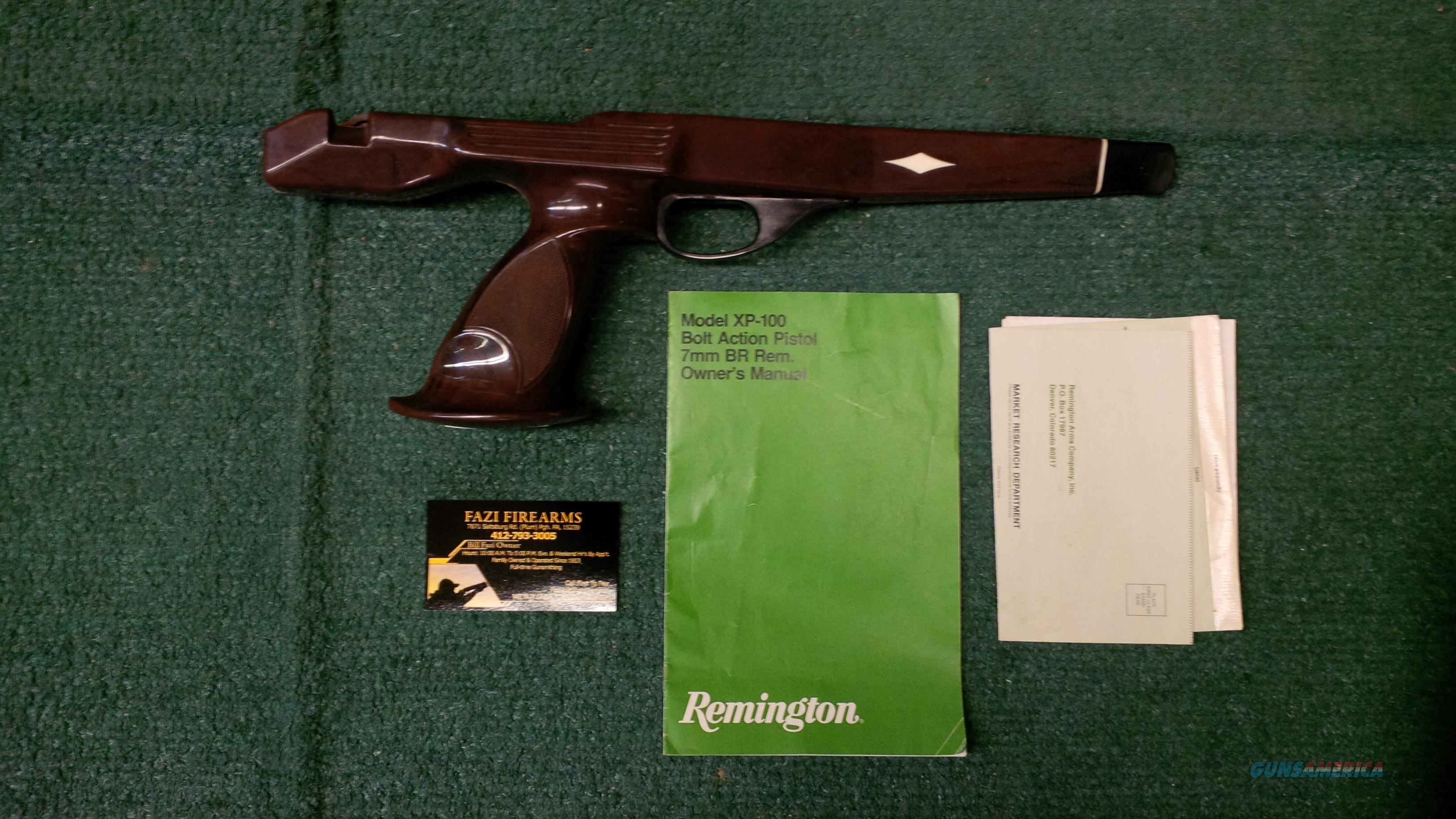 Remington XP-100 Stock/ With Original Owners Manual  Non-Guns > Gun Parts > Stocks > Polymer