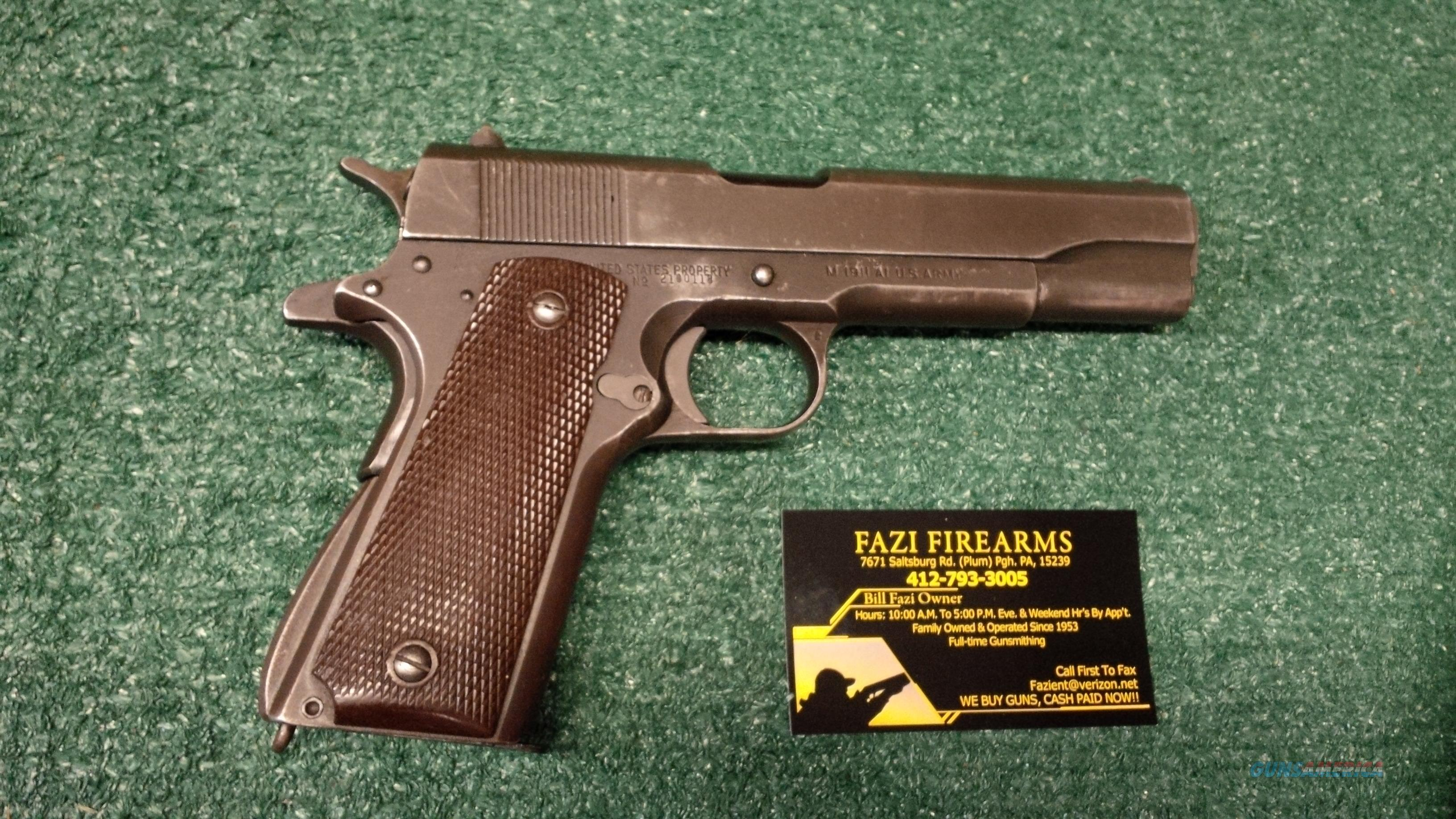 "Ithaca 1911 A1 US ARMY Stamped .45 Auto Pistol ""Rare""!!!  Guns > Pistols > Ithaca Pistols"