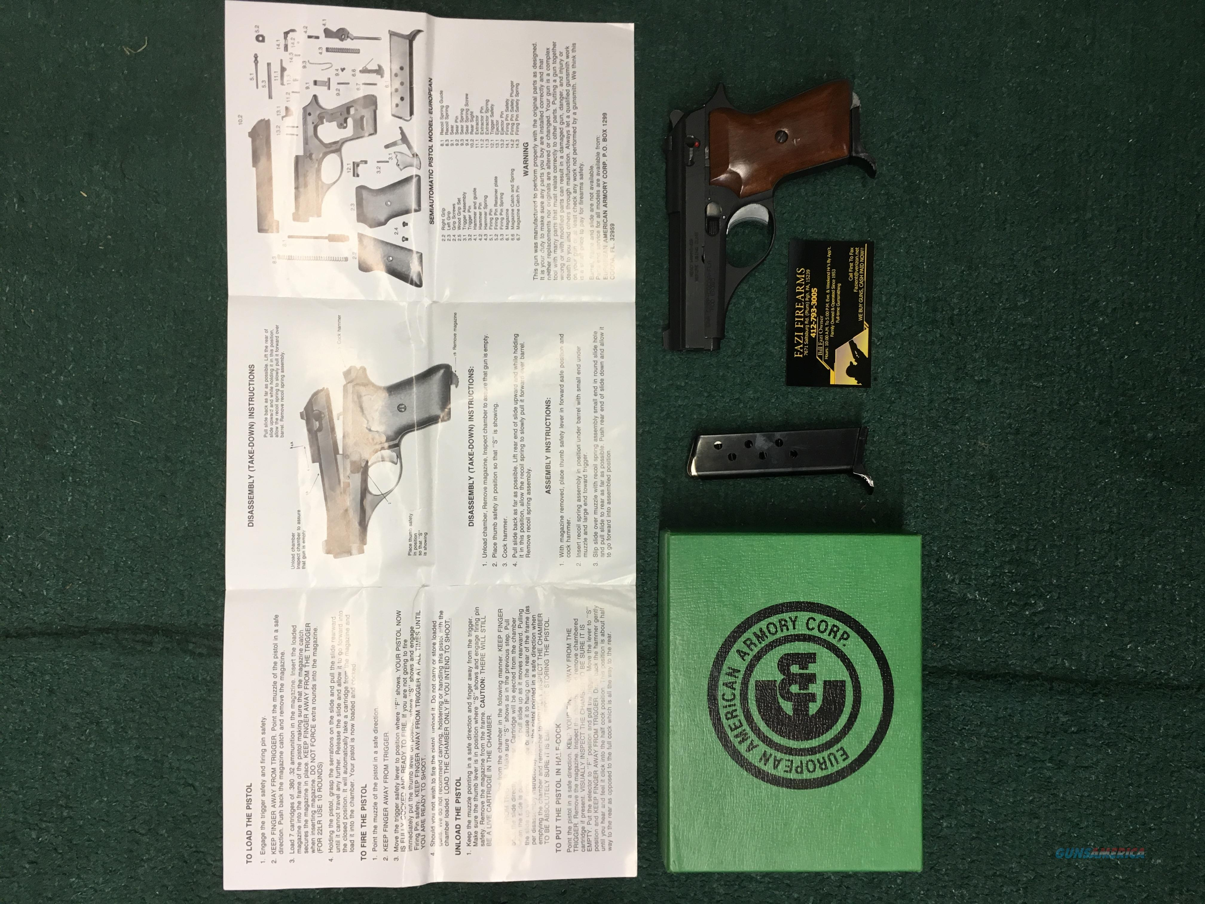 European American Armory EA380 Pistol .380 Caliber  Guns > Pistols > EAA Pistols > Other
