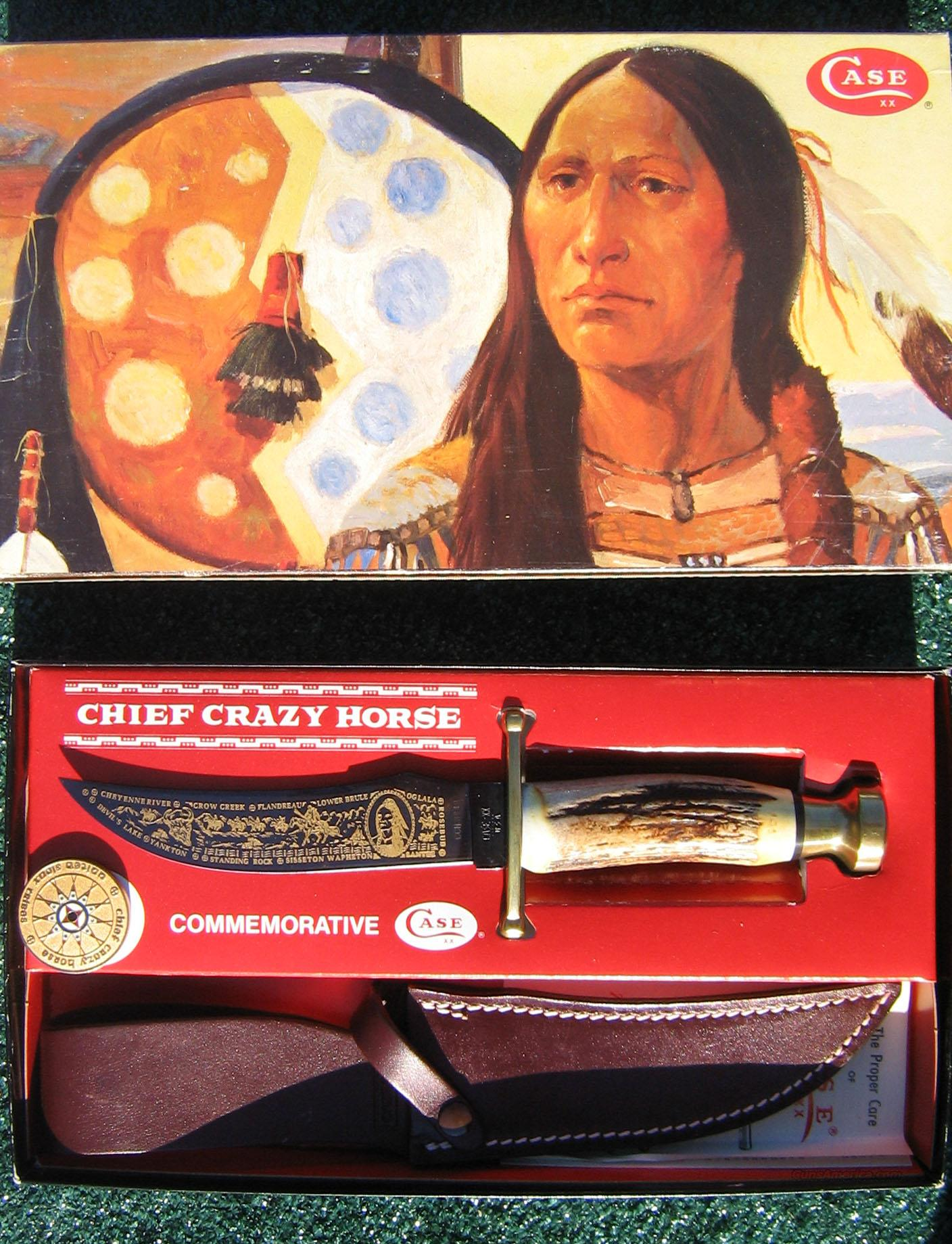 Case Chief Crazy Horse Commemorative Knife   Non-Guns > Knives/Swords > Knives > Fixed Blade > Hand Made