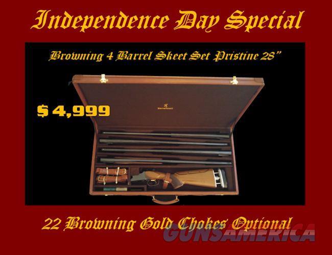 Browning Citori Grade I Four Barrel Skeet Set w/Leather Case w/Gracoil w/22 Gold Chokes Optional  Guns > Shotguns > Browning Shotguns > Over Unders > Citori > Trap/Skeet
