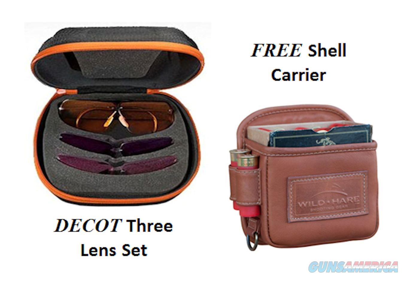 "Decot Hy-Wyd Shooting Glasses 3 Lens Set w/  ""FREE SHELL CARRIER"" Leather Hand Stiched  Non-Guns > Scopes/Mounts/Rings & Optics > Non-Scope Optics > Other"
