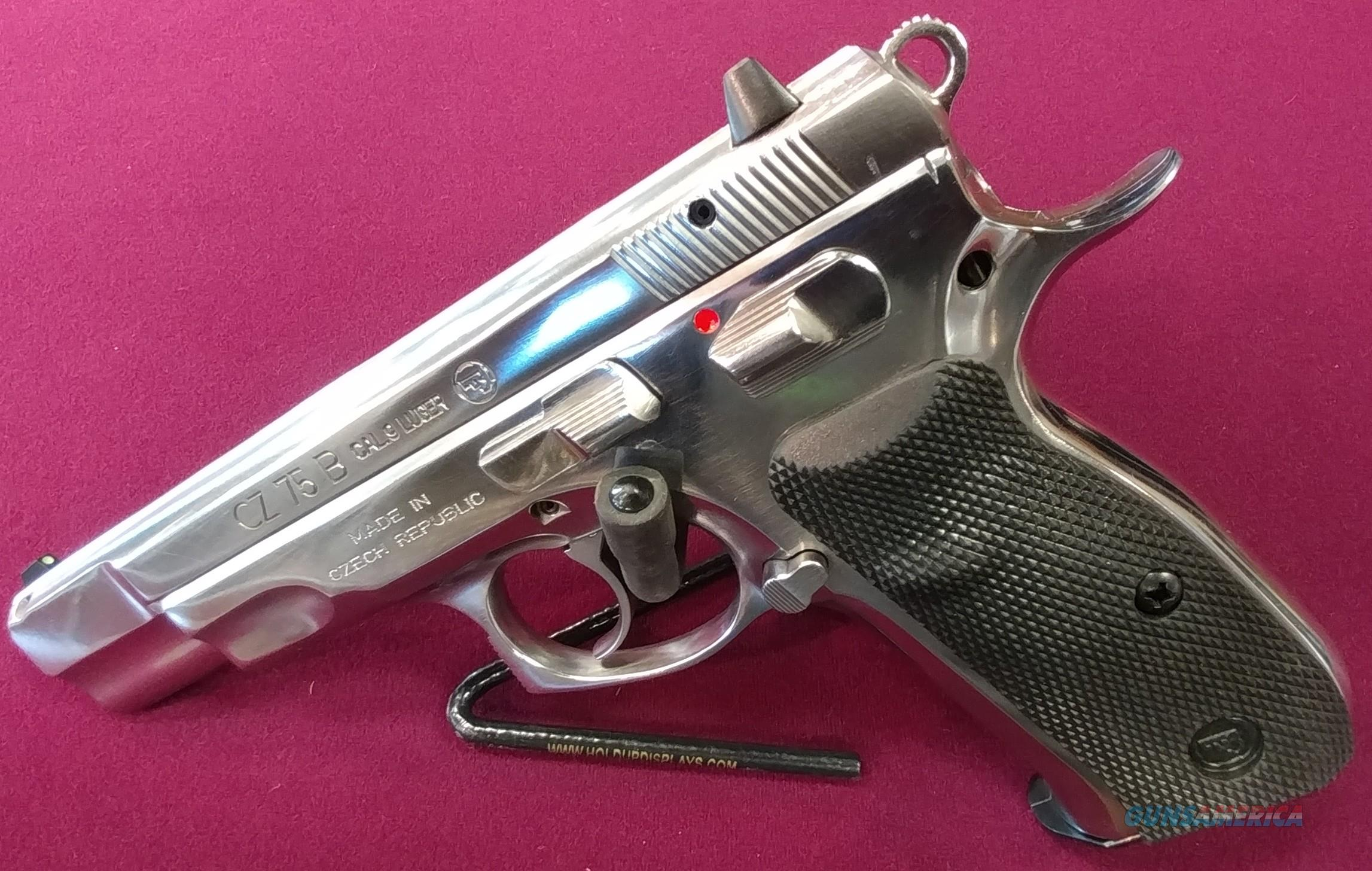 "CZ 75 B 9MM HIGH POLISH SS 4.7"" 16RD  Guns > Pistols > CZ Pistols"