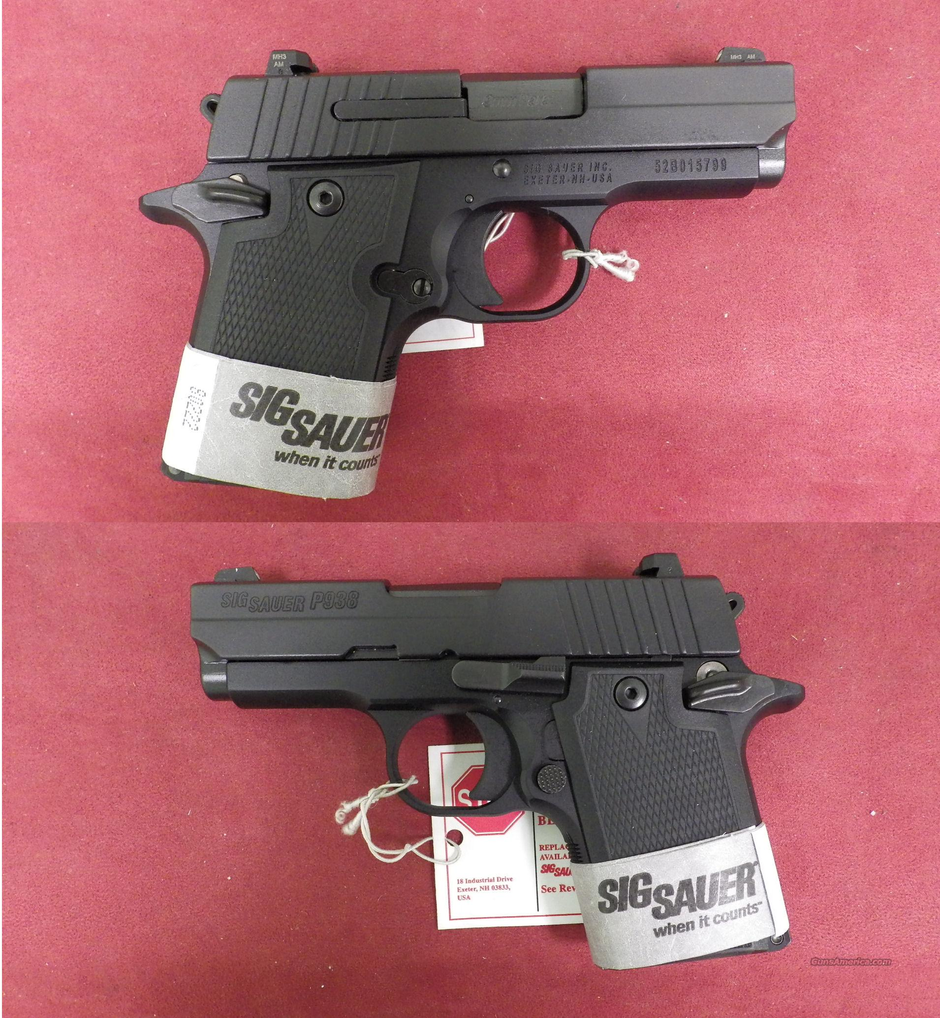 Sig Sauer P938 9mm  *MUST CALL*  Guns > Pistols > Sig - Sauer/Sigarms Pistols > Other
