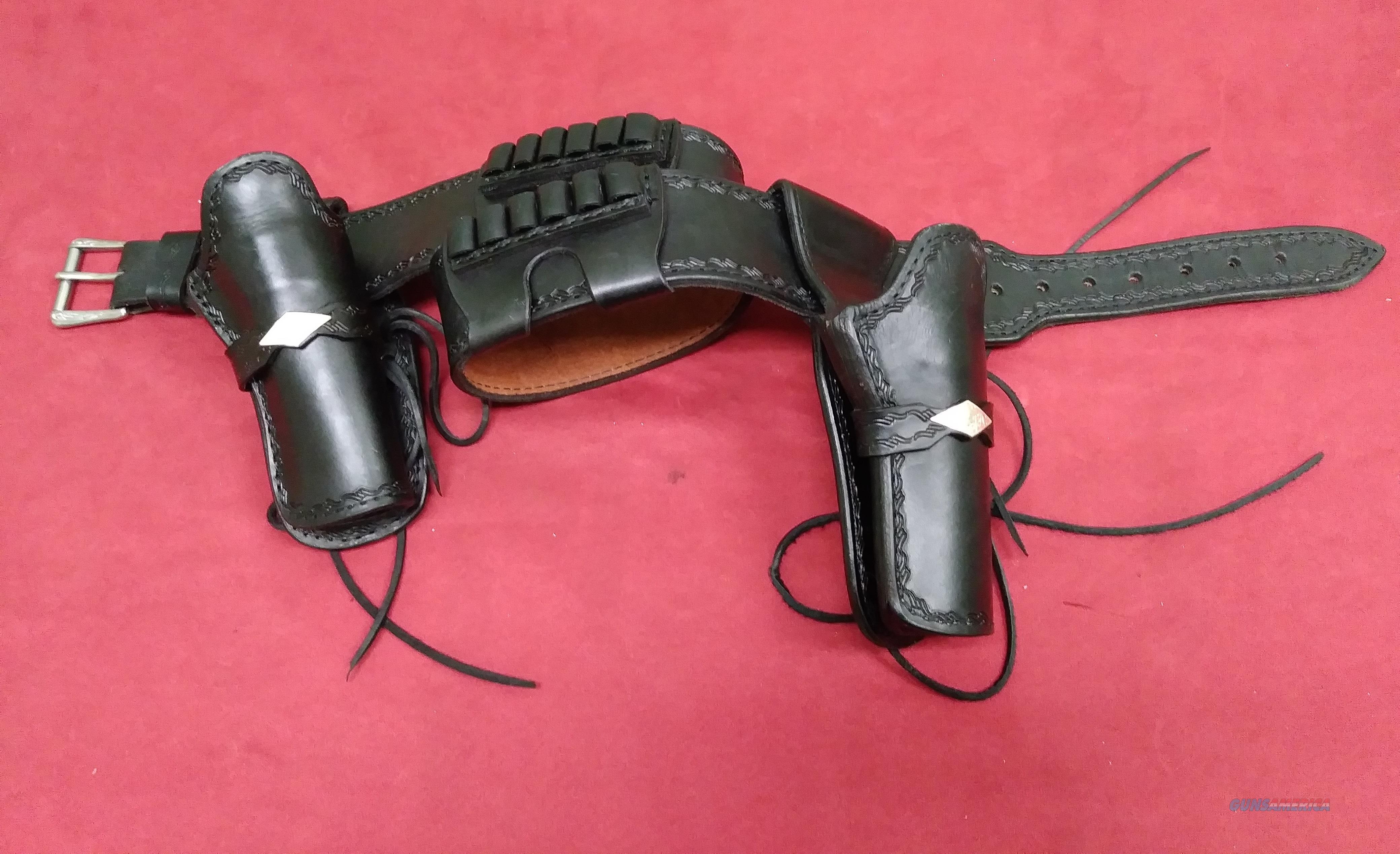 Bob Mernickle Gunbelt, .45 Colt Loops, 2 Holsters  Non-Guns > Cowboy Action/Western