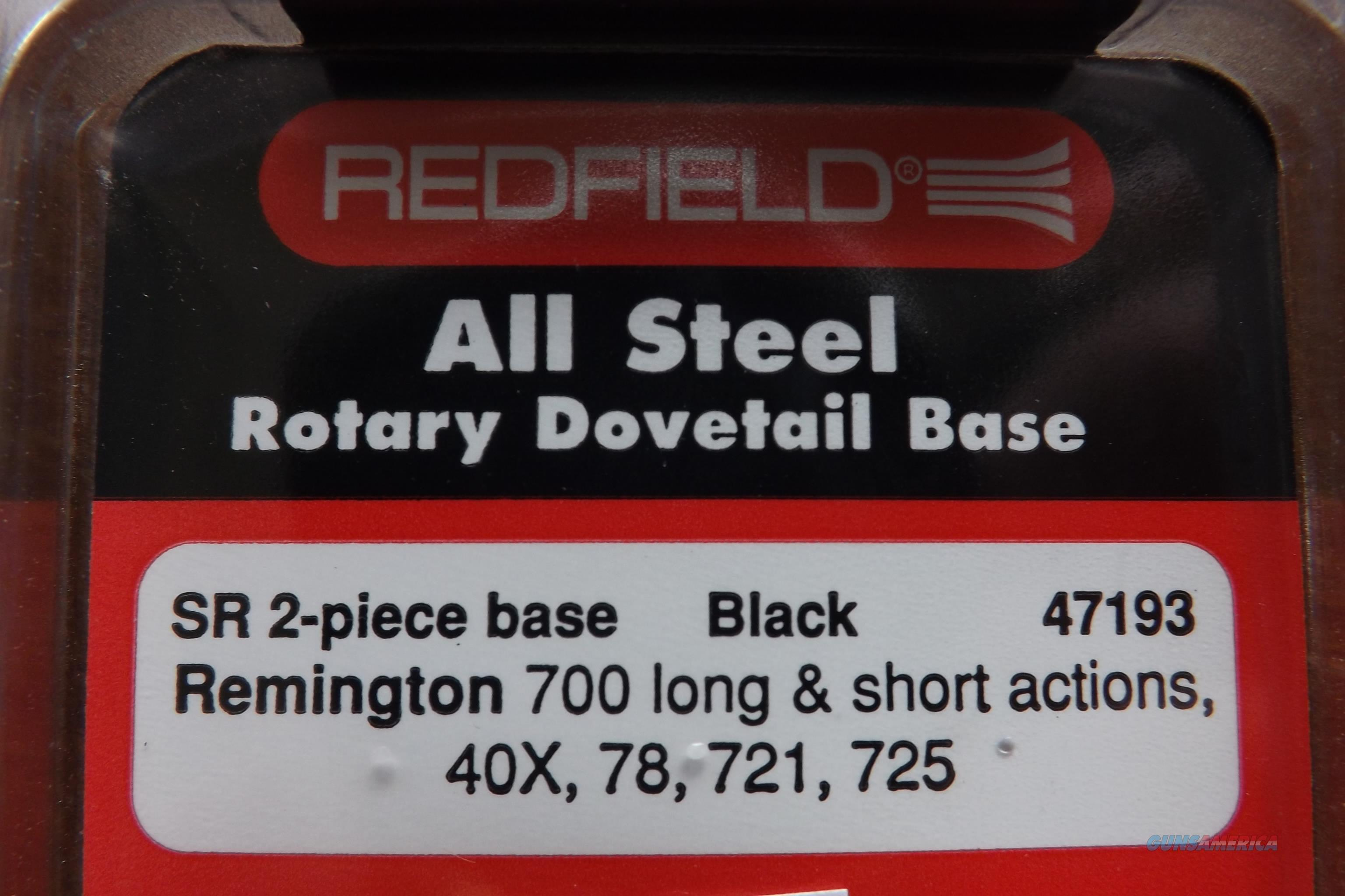 Redfield SR 2 pc. rotary dovetail base Remington 700 long & short actions, 40X, 721, 725  Non-Guns > Scopes/Mounts/Rings & Optics > Mounts > Other