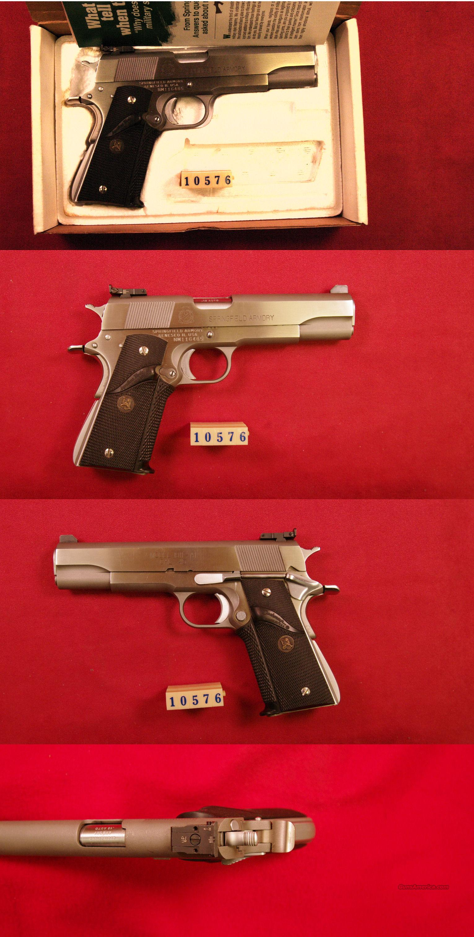 Springfield Armory 1911-A1 Stainless 45 ACP  Guns > Pistols > Springfield Armory Pistols > 1911 Type