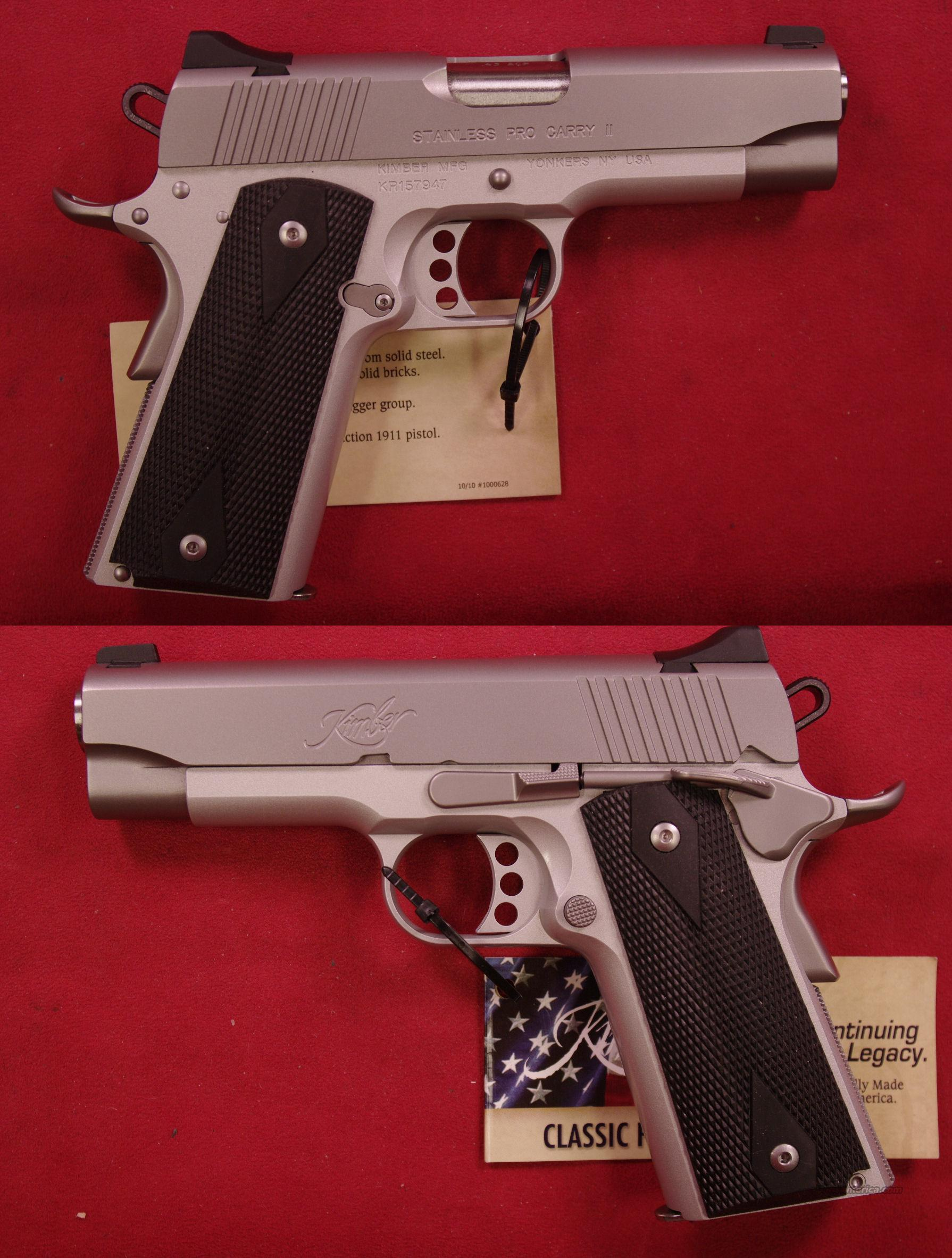 Kimber Stainless Pro Carry II .45 ACP  Guns > Pistols > Kimber of America Pistols