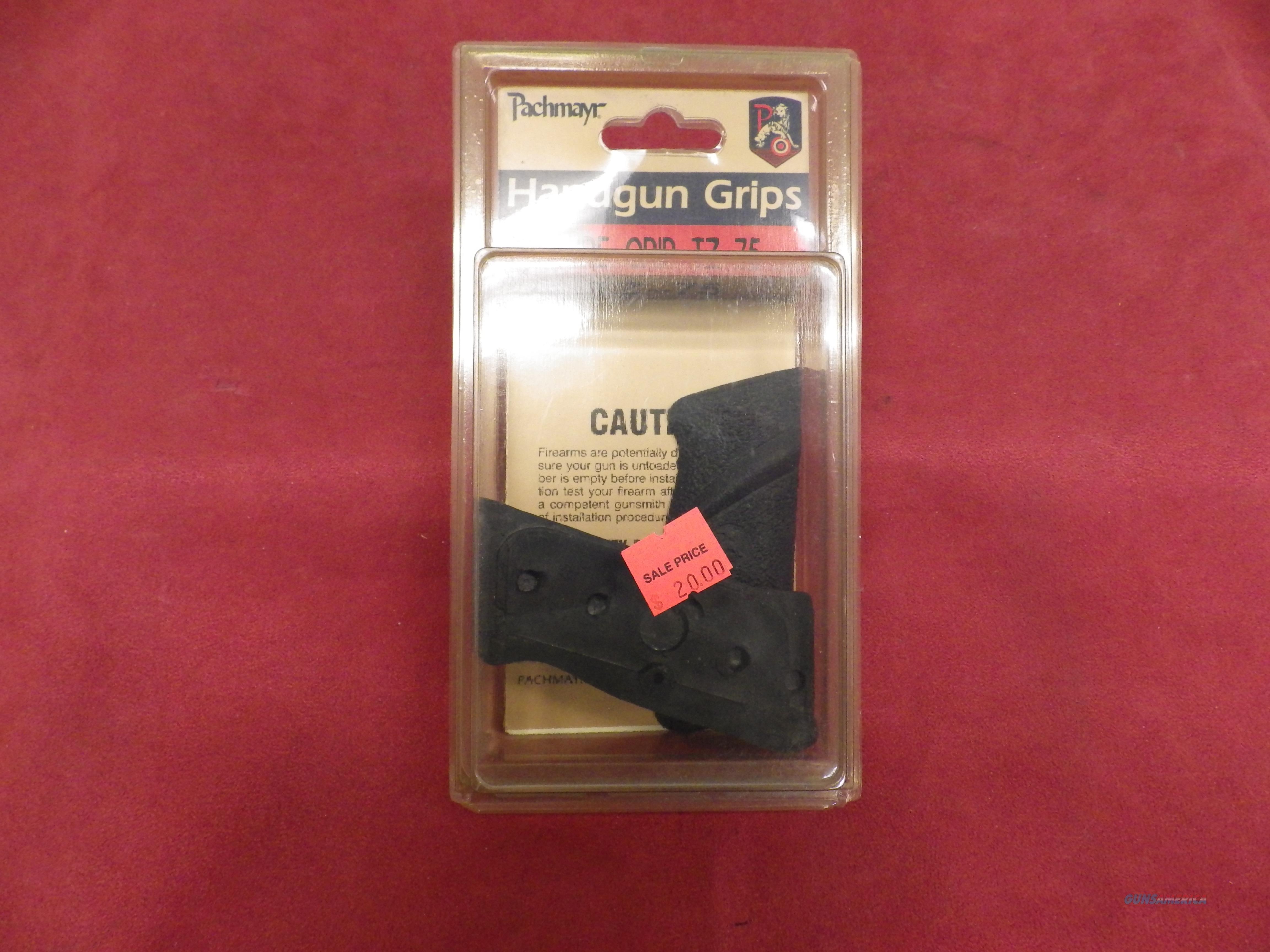 CZ-75 Grips, Pachmayr Sure Grip, NIB  Non-Guns > Gunstocks, Grips & Wood