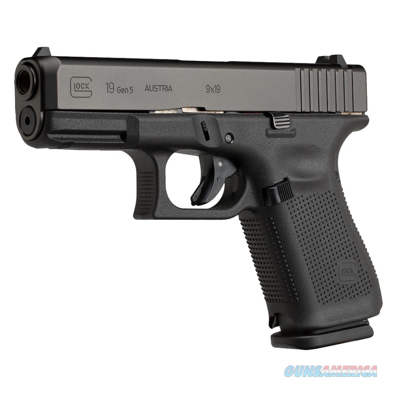 Glock 19 Gen 5, 9mm  Guns > Pistols > Glock Pistols > 19/19X