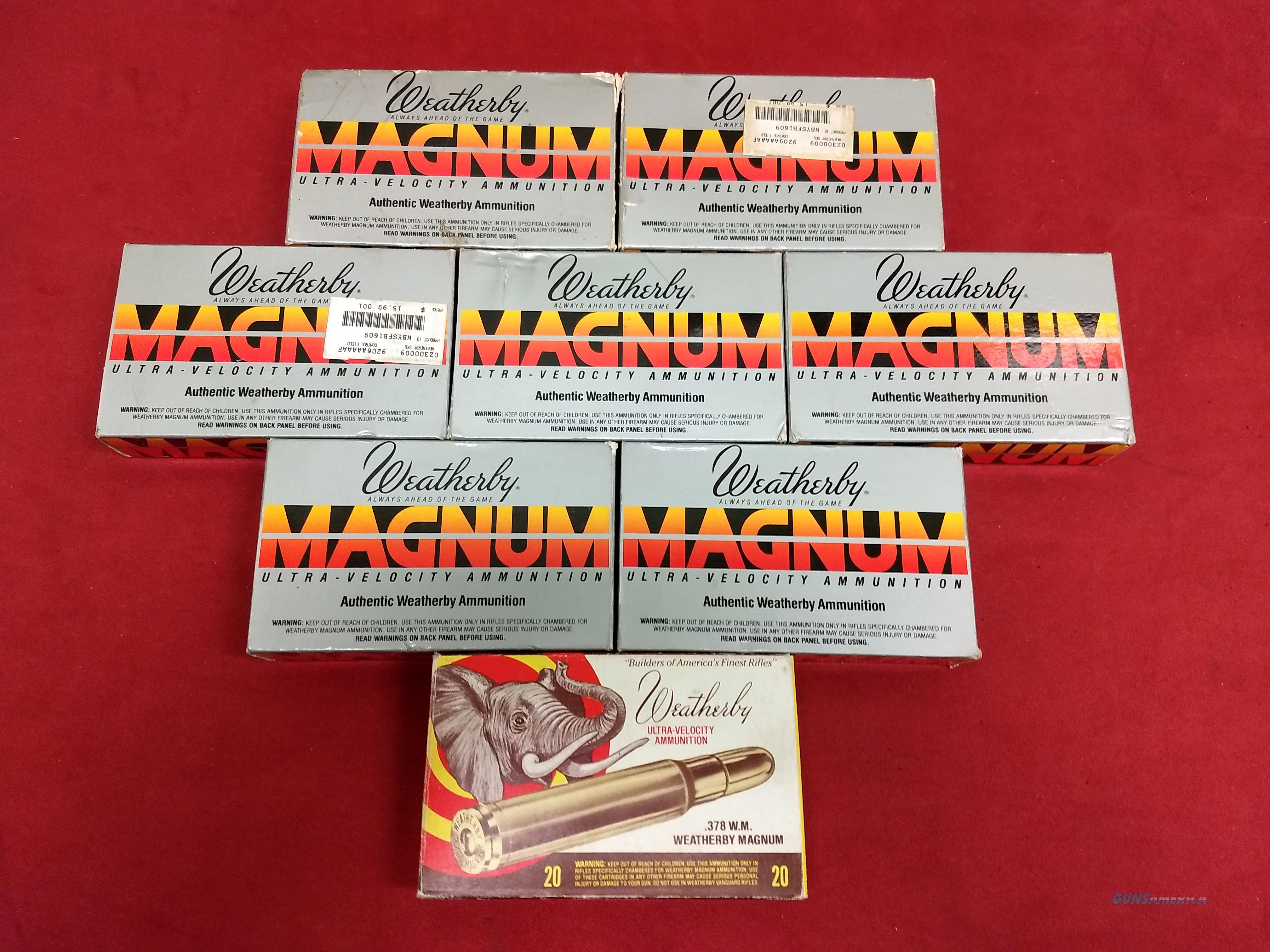 Weatherby (by Norma) .378 Weatherby Magnum Cases x 20  Non-Guns > Reloading > Components > Brass