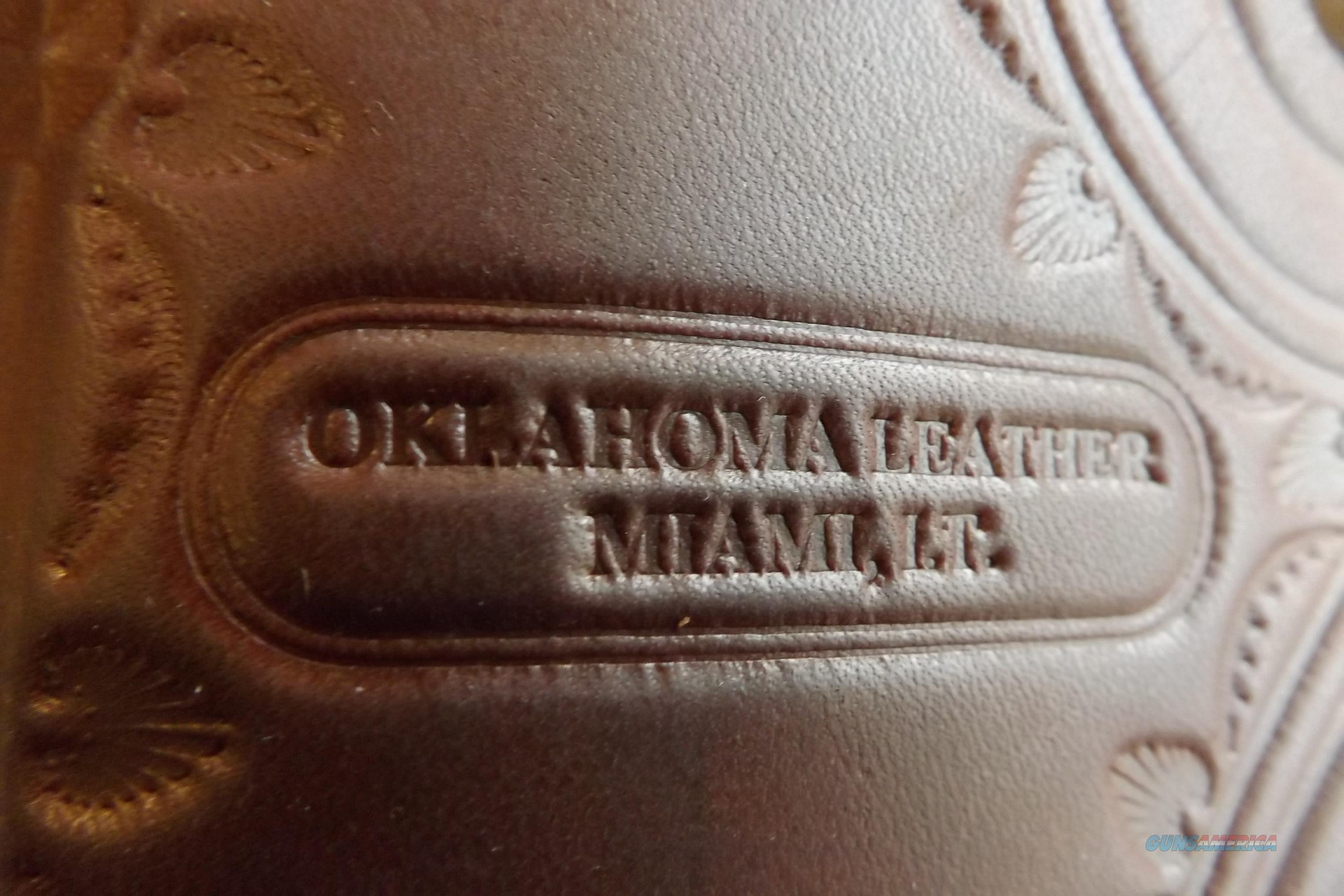 "Oklahoma Leather Co. ""SLIM JIM"" Left Hand Single Action western holster  Non-Guns > Holsters and Gunleather > Cowboy"