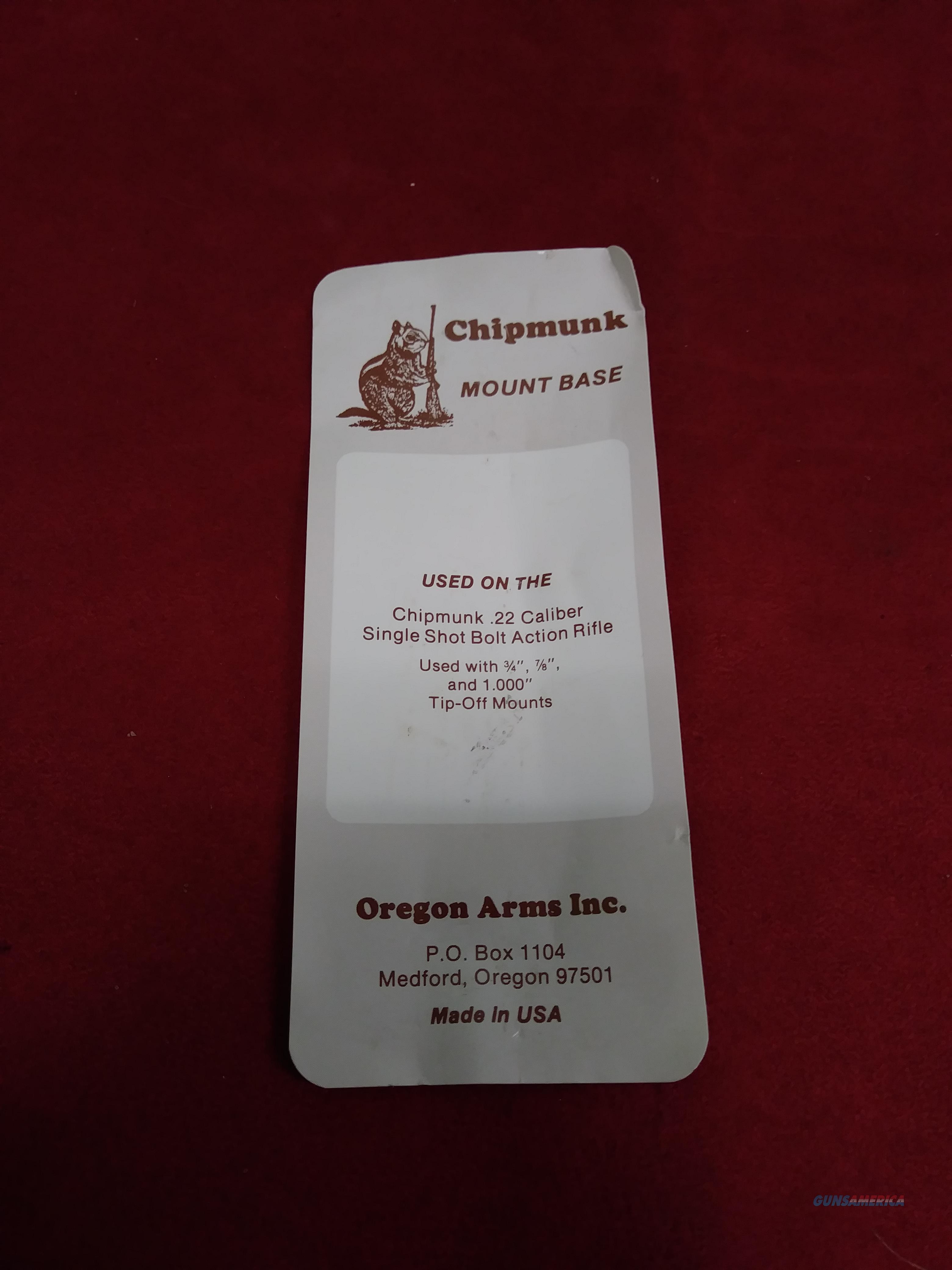Chipmunk Mount Base  Non-Guns > Scopes/Mounts/Rings & Optics > Mounts > Traditional Weaver Style > Flat