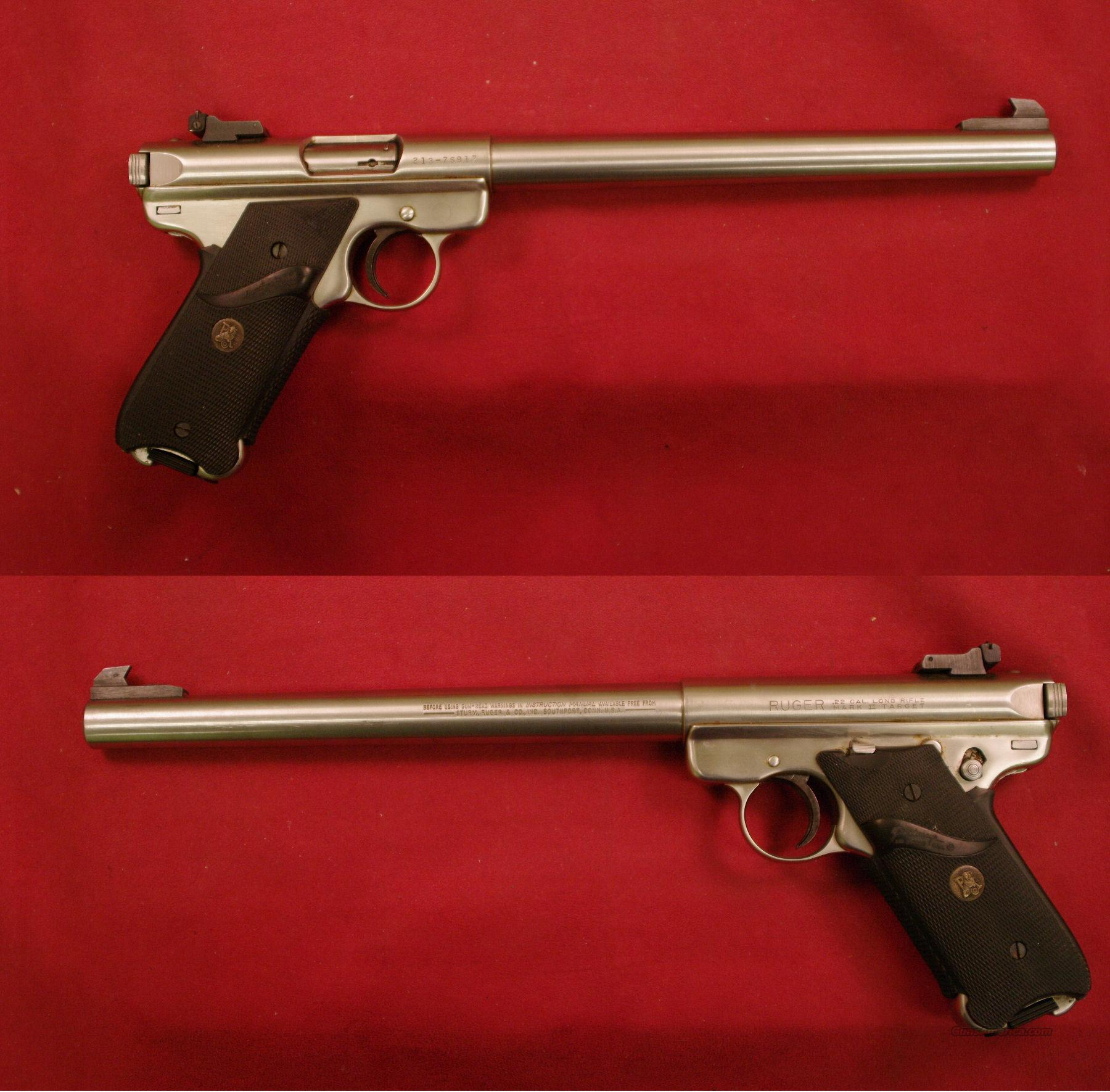 Ruger MK II .22LR Stainless 10 inch *MUST CALL*  Guns > Pistols > Ruger Semi-Auto Pistols > Mark I & II Family