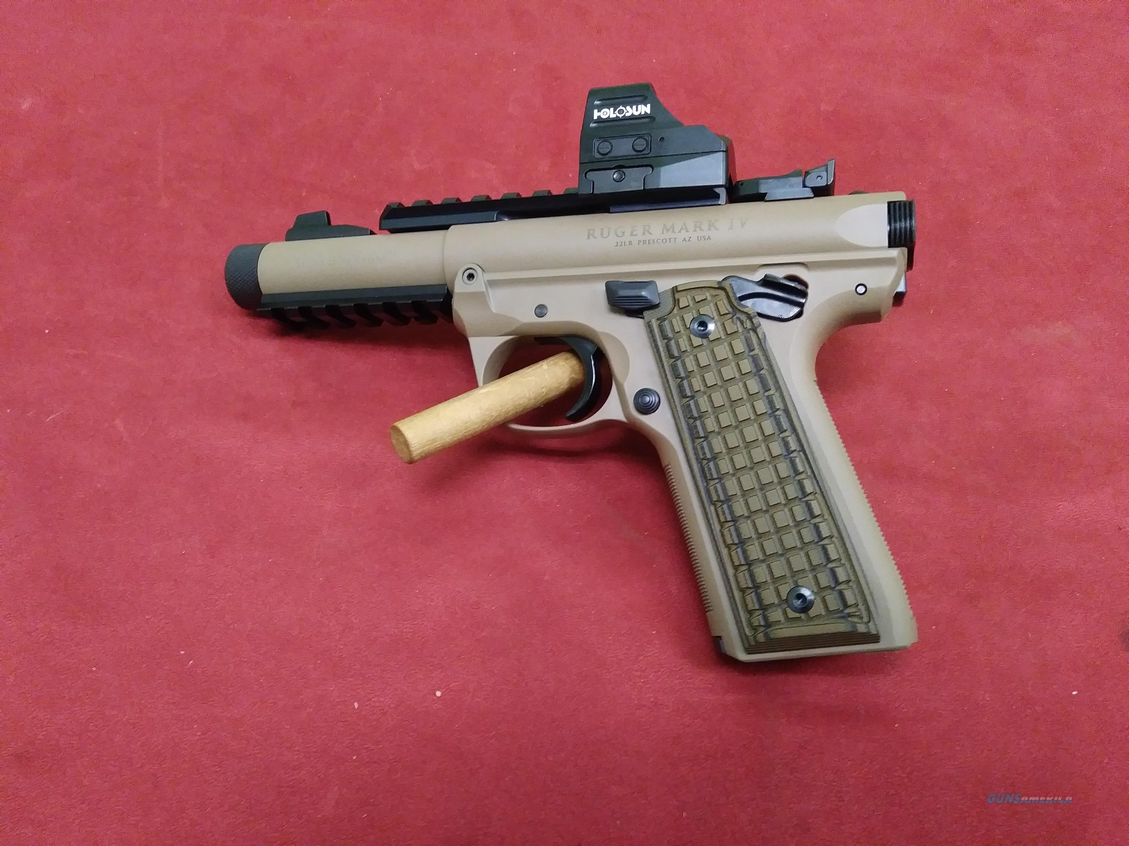 Ruger Mk IV 22/45 Tactical, FDE W/Holosun HS507C Red Dot   Guns > Pistols > Ruger Semi-Auto Pistols > Mark I/II/III/IV Family