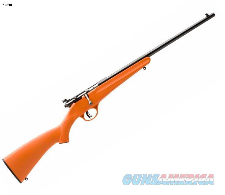 Savage Rascal youth single-shot rifle, .22 LR, orange stock, NIB   Guns > Rifles > Savage Rifles > Rimfire