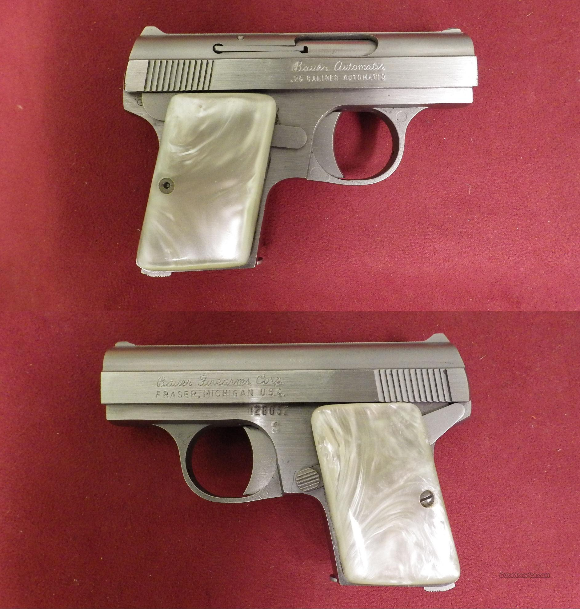 Bauer Firearm 25acp Must Call For Sale