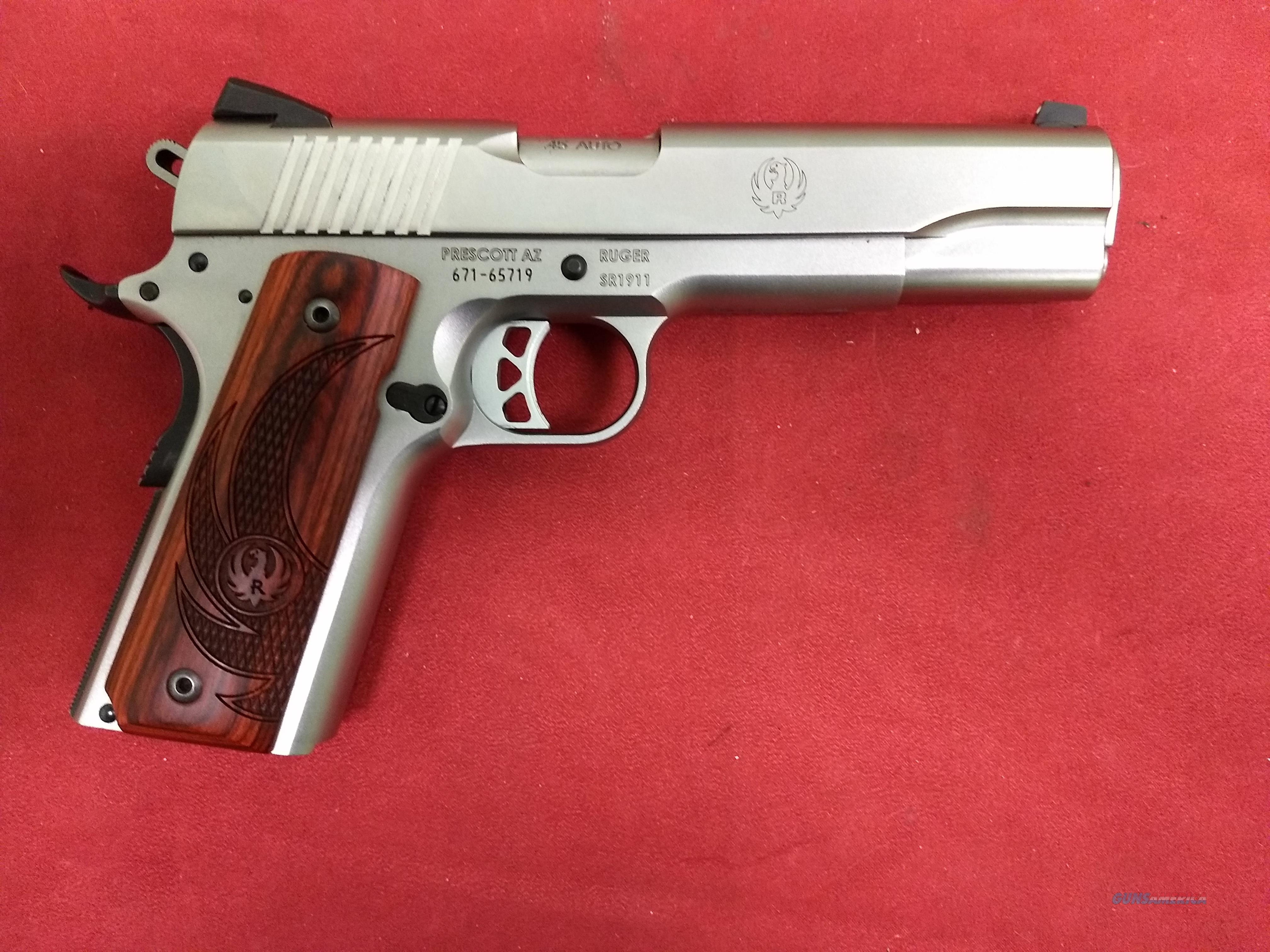 Ruger SR1911, .45 ACP, Stainless, Custom Grips  Guns > Pistols > Ruger Semi-Auto Pistols > 1911