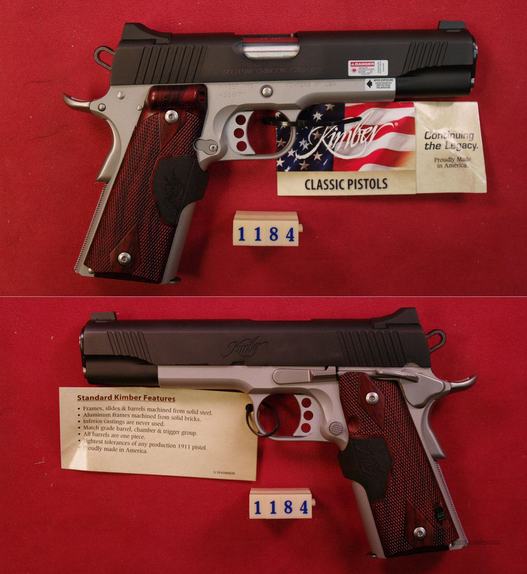 Kimber Custom Crimson Carry II .45ACP  Guns > Pistols > Kimber of America Pistols