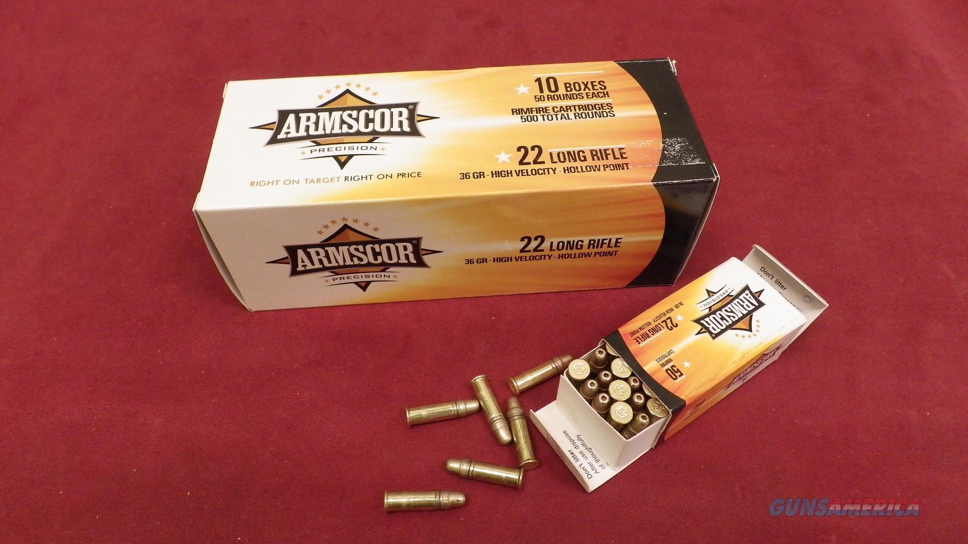Armscor .22LR 36 gr. High Velocity Hollow Points *MUST CALL*  Non-Guns > Ammunition